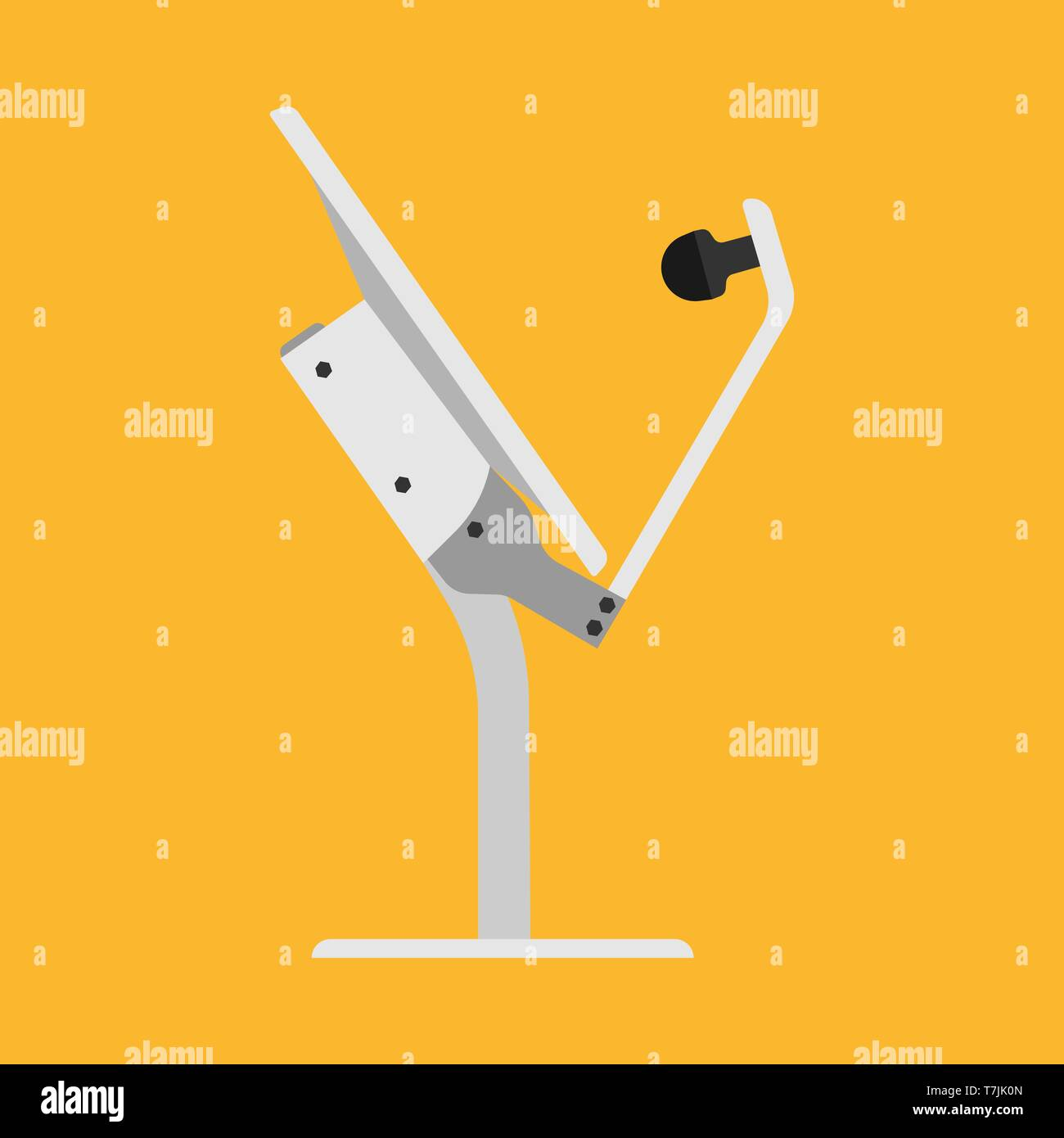 Tv Antenna Broadcast Media Vector Icon Technology Channel Signal Dish Receiver Satellite Cartoon Tower Station Network Stock Vector Image Art Alamy
