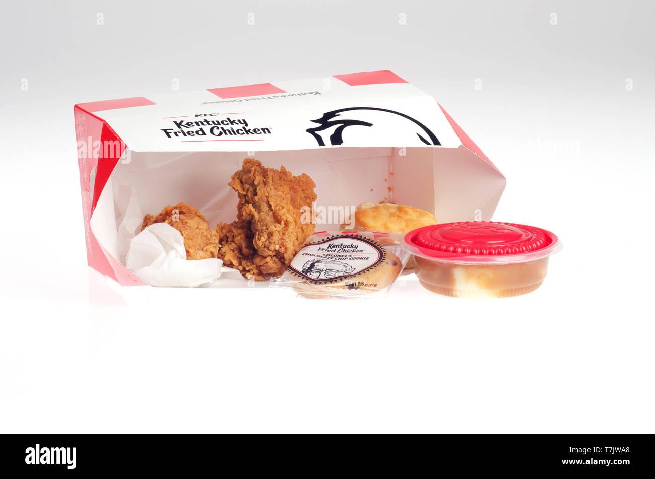KFC $5 Fill Up meal box - Stock Image