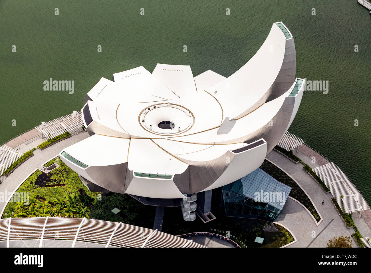 An Aerial View Of The ArtScience Museum, Singapore, South East Asia Stock Photo