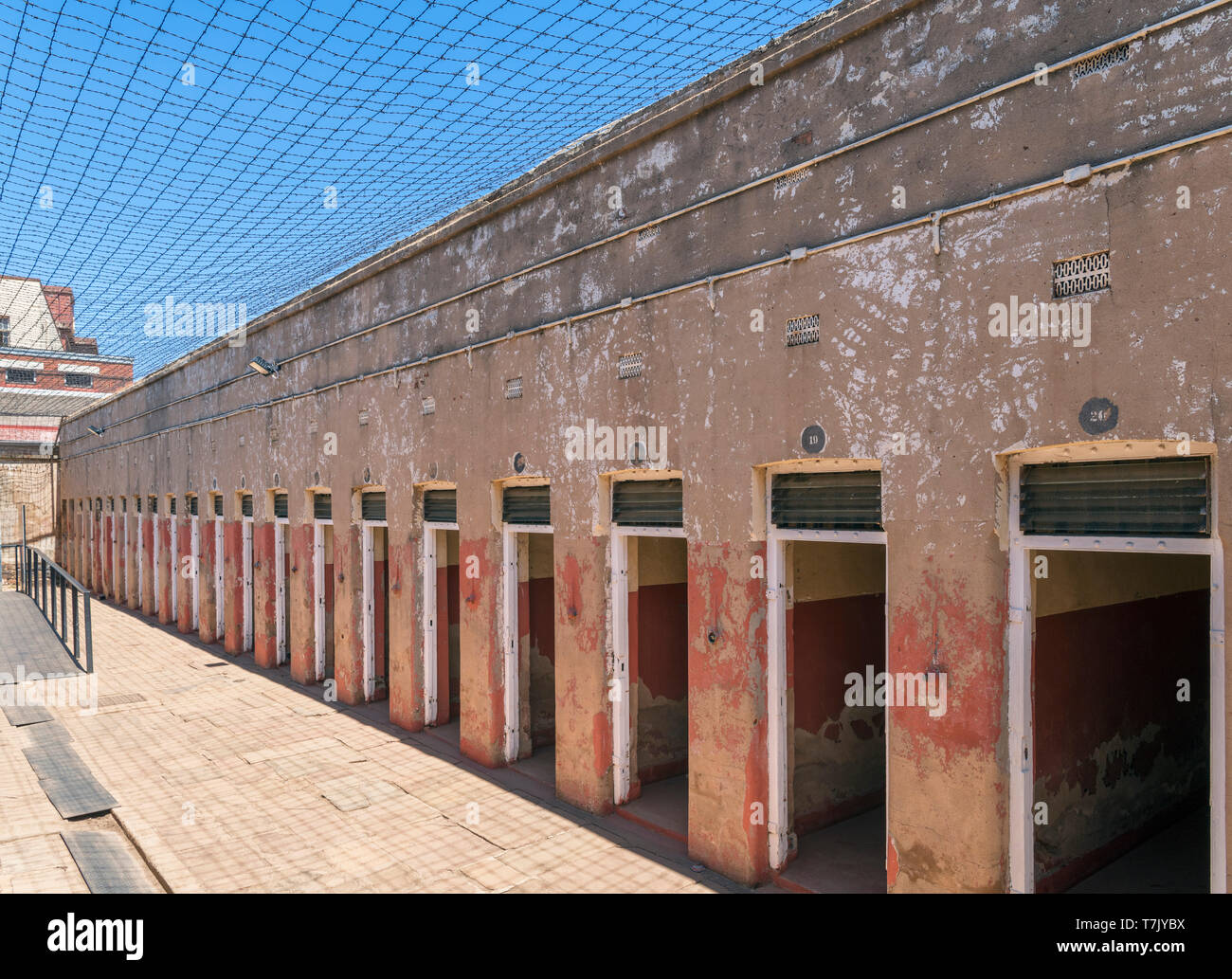 Isolation cells in Number Four Jail, Constitution Hill, Johannesburg, South Africa - Stock Image