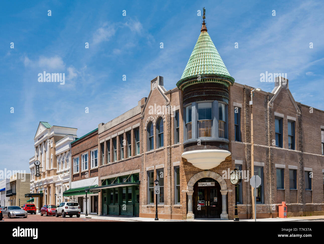 Biloxi Mississippi Usa The Original 1896 Peoples Bank Building At 750 Vieux Marche In The Historic Downtown Area