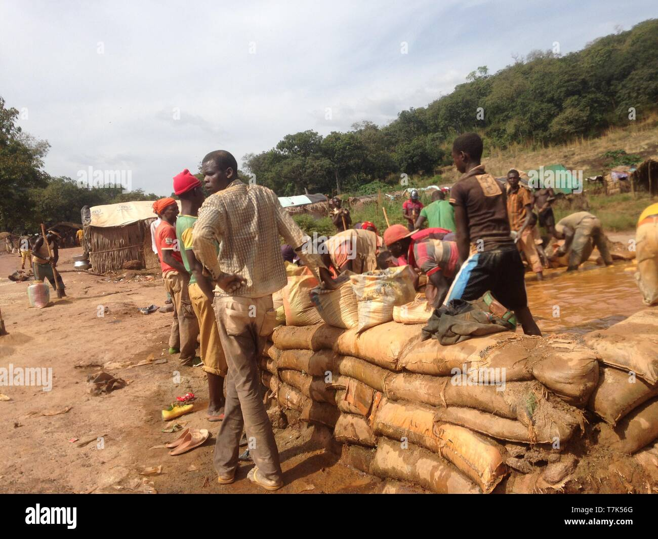 Central Africa Republic workers - Stock Image