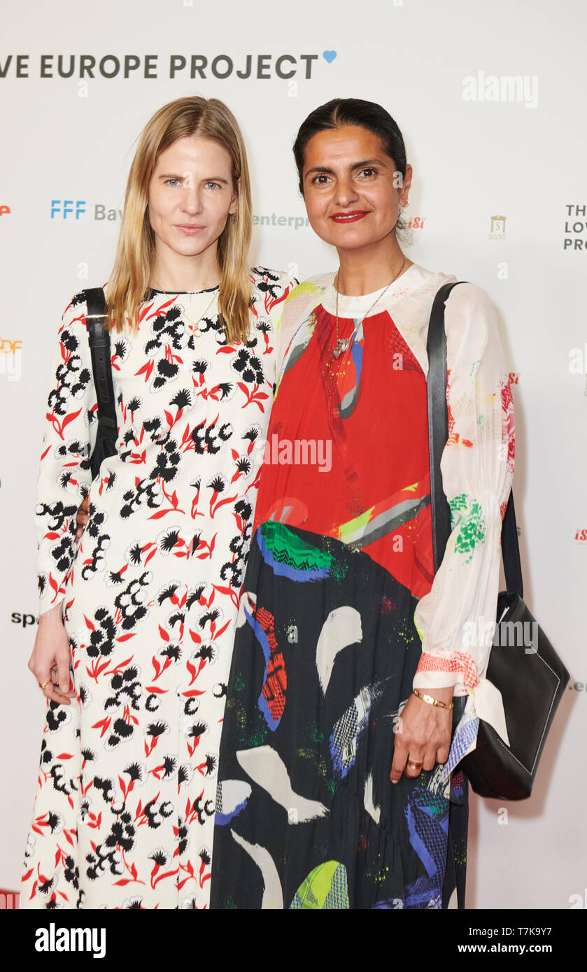 Berlin Germany 07th May 2019 Aino Laberenz Costume Designer And Leyla Piedayesh Fashion Designer L R Come To The Premiere Of The Film The Love Europe Project In Their Ten Minute Short Films Ten