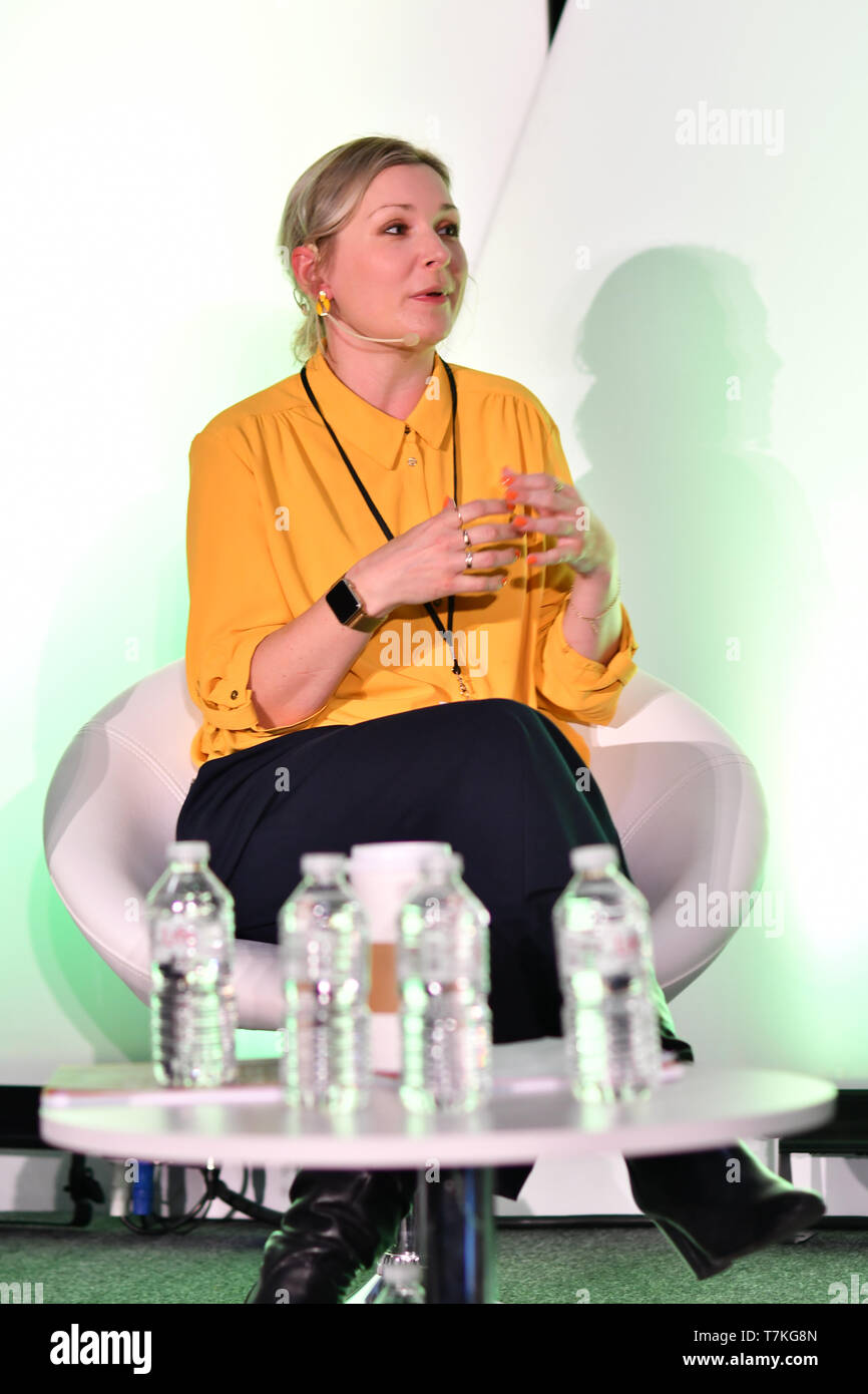 London, UK. 8th May, 2019. Spearkers Dr Davina Deniszczyc, Medical Director - Primary Care at Nuffield Health of Prevention not cure - what is the role of personalised care? at Elevate 2019 on 8 May 2019, at Excel London, UK. Credit: Picture Capital/Alamy Live News - Stock Image