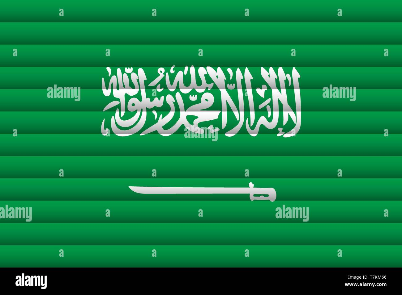 National Flag of Saudi Arabia. For Independence Day. Vector Illustration. - Stock Vector