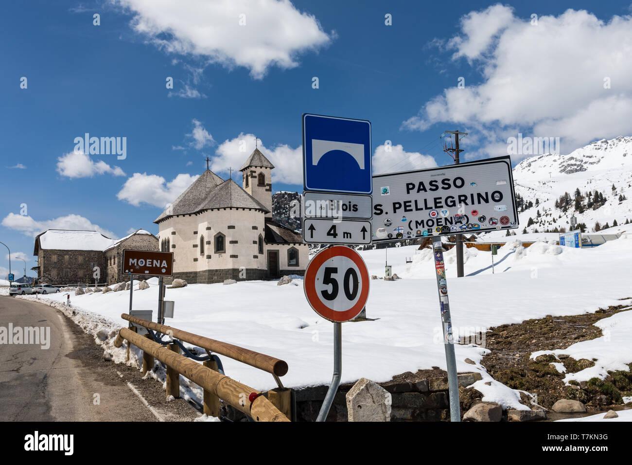 Passo San Pellegrino, San Pellegrino Pass, Dolomites, Italy Stock Photo