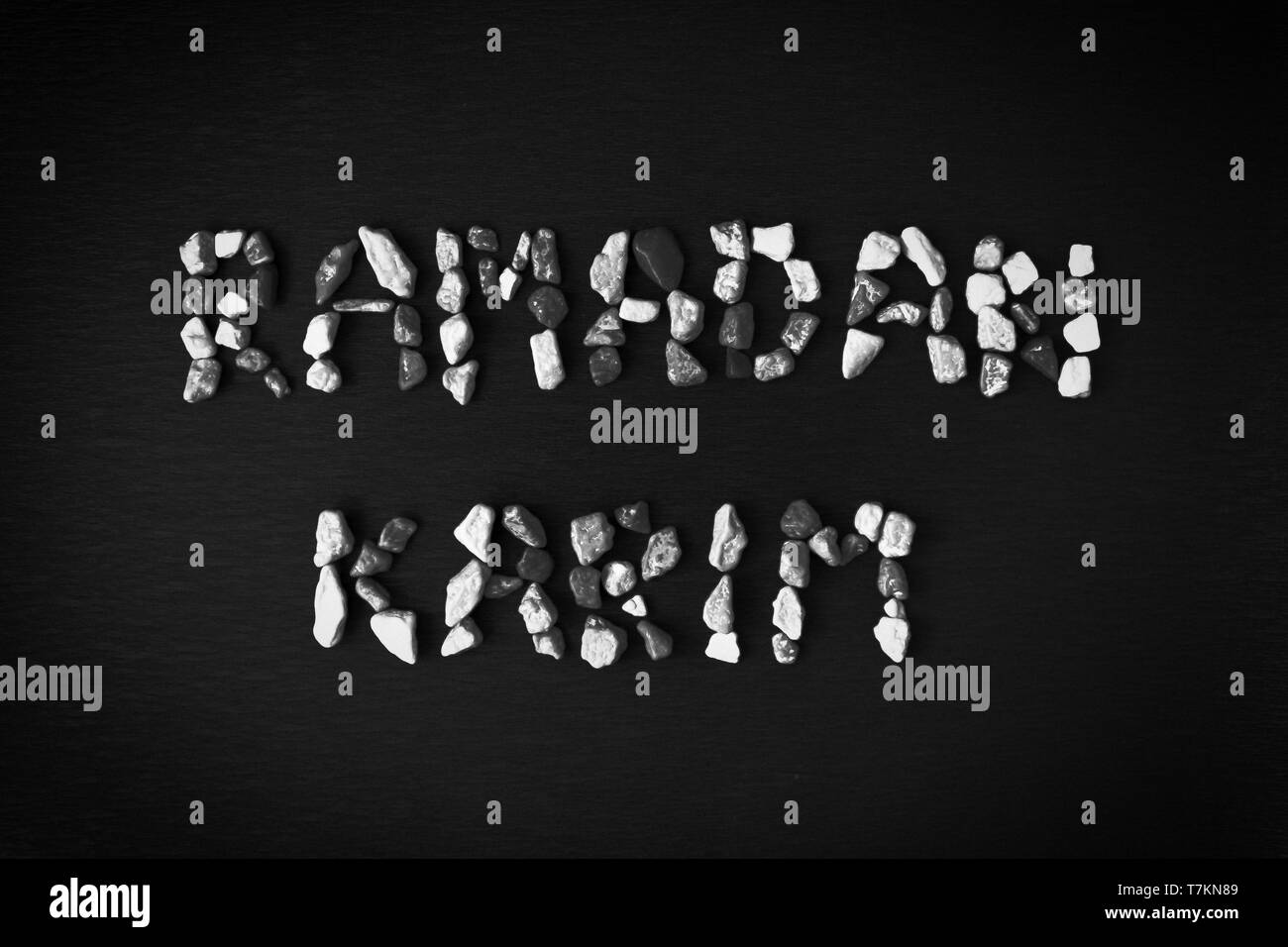 The photo of ramadan karim words for web background or greeting card stock image
