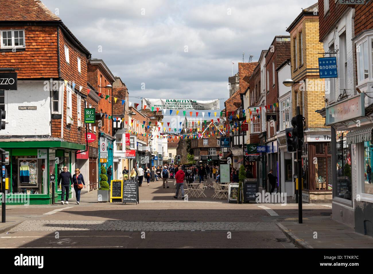 Salisbury High Street, Wiltshire, England - Stock Image