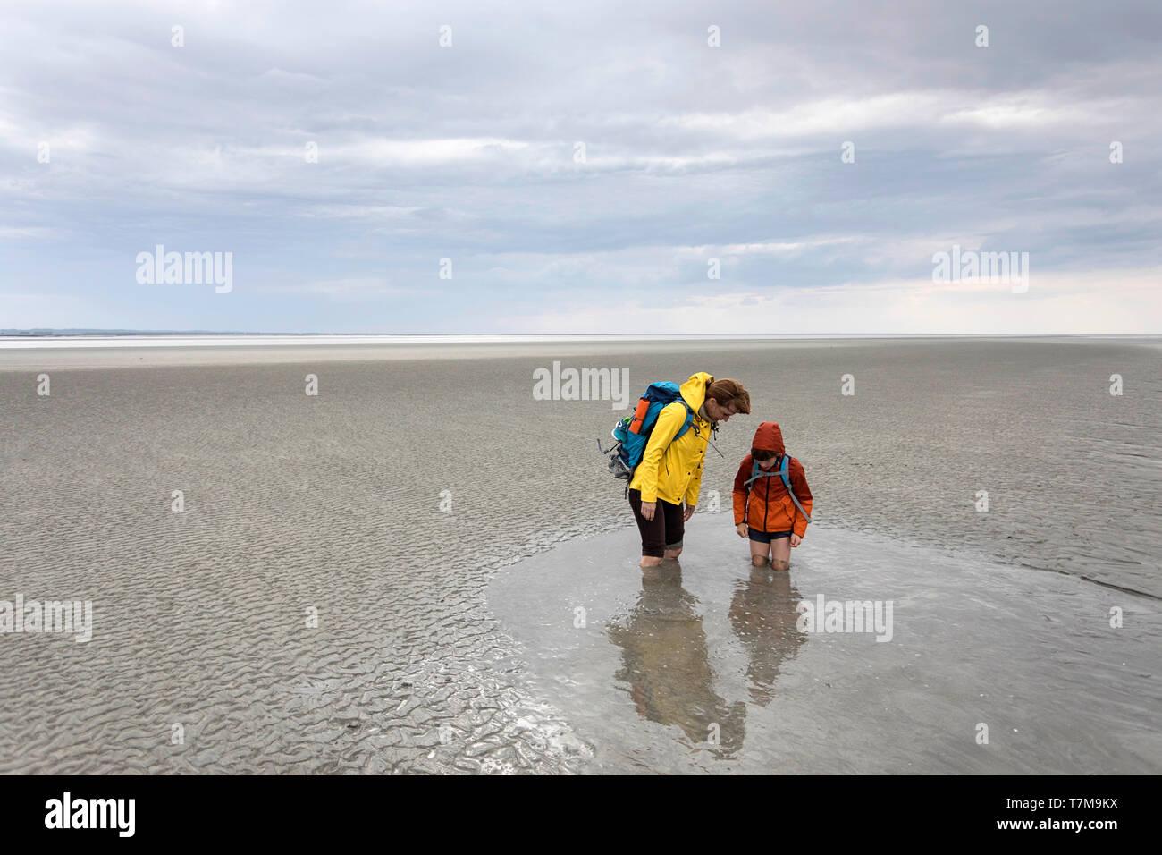 Man Sinking In Quicksand