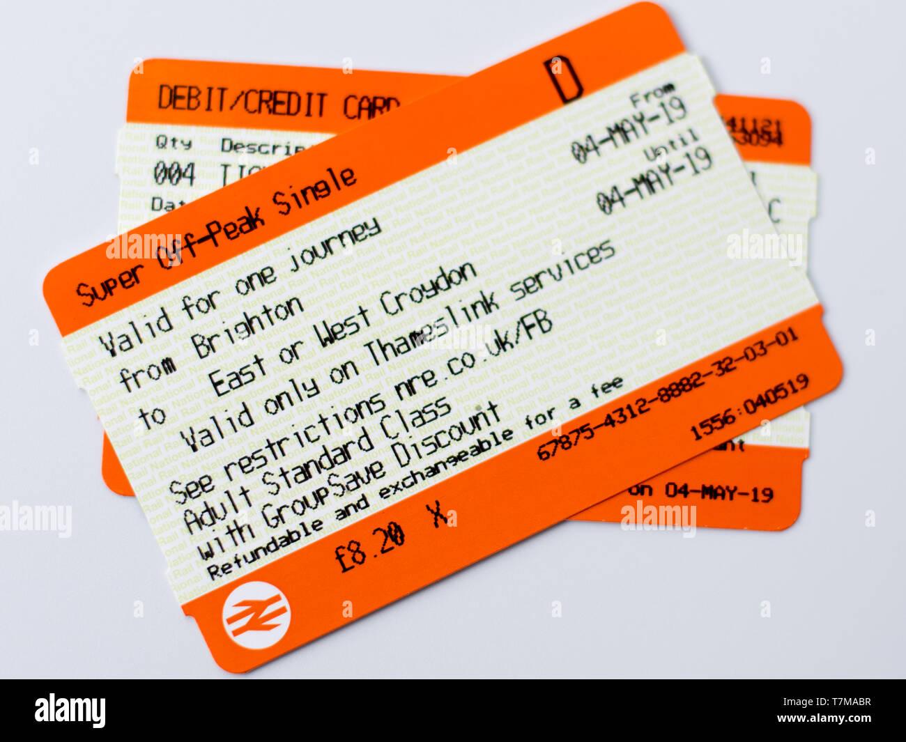 National rail ticket - Stock Image