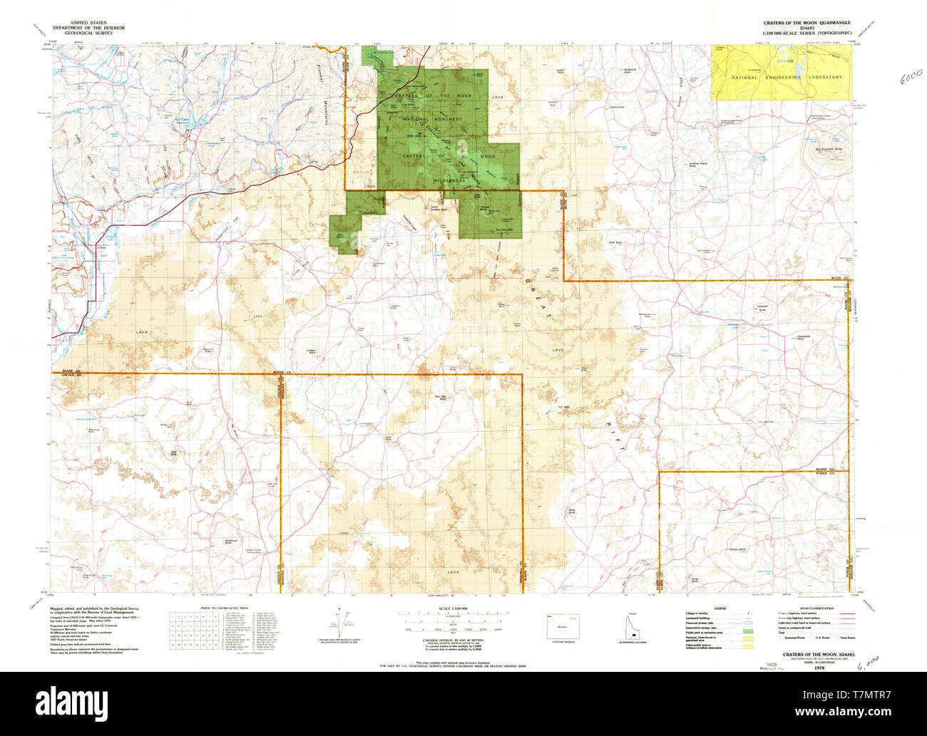 USGS TOPO Map Idaho ID Craters Of The Moon 239373 1978 ...