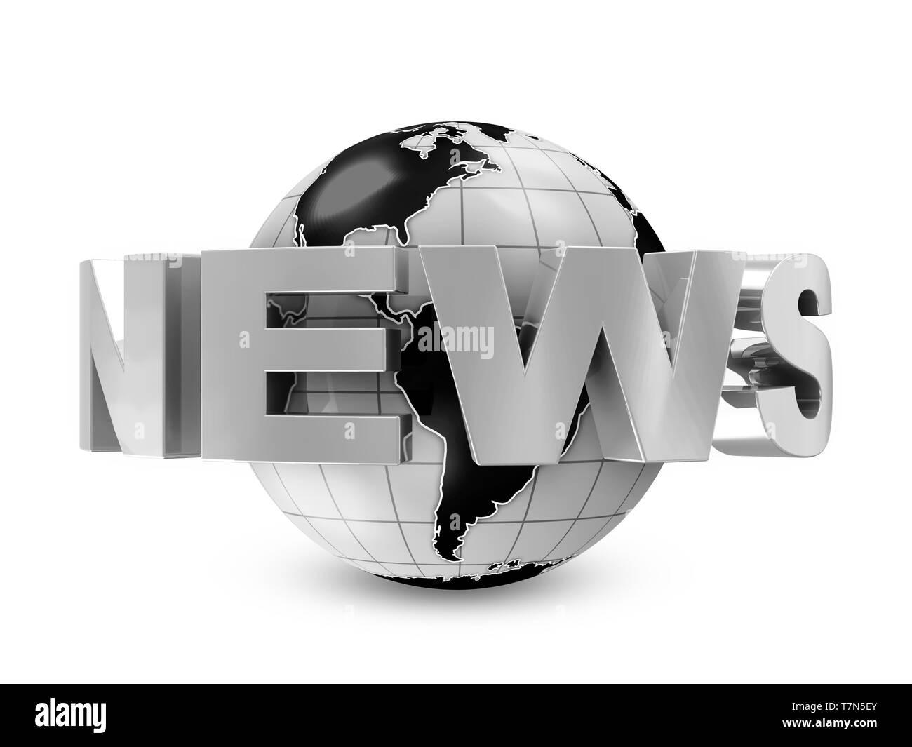 Global News Concept Image - Stock Image