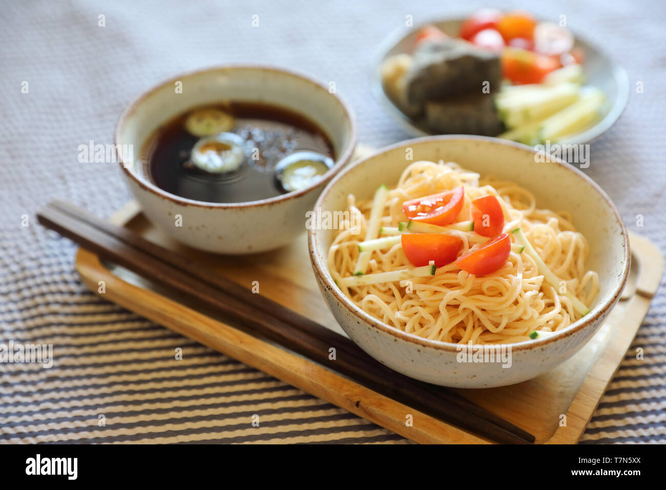 Cold noodles japanese food style Stock Photo