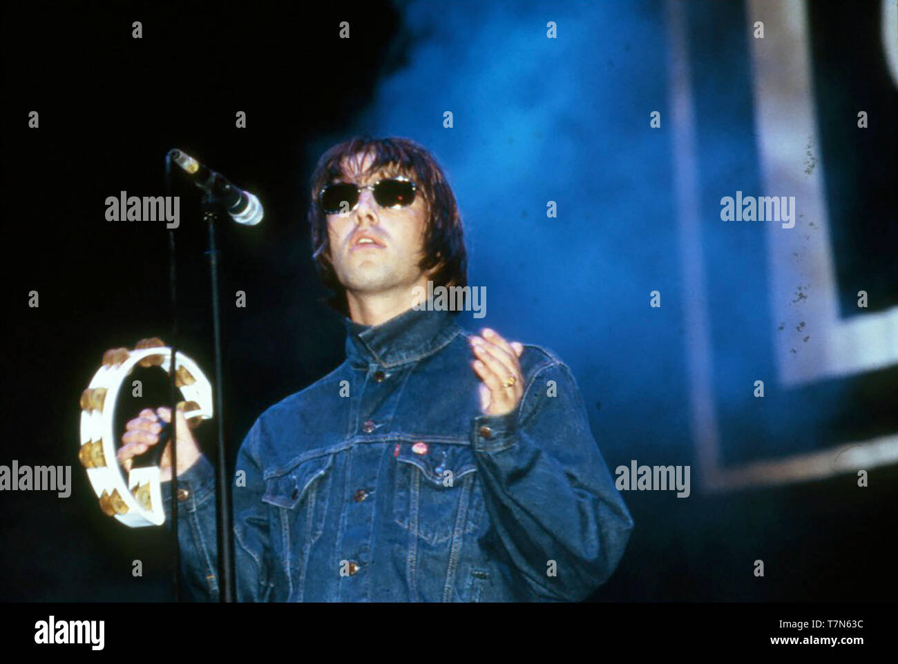 OASIS  English rock group with Liam Gallagher in 1996. - Stock Image
