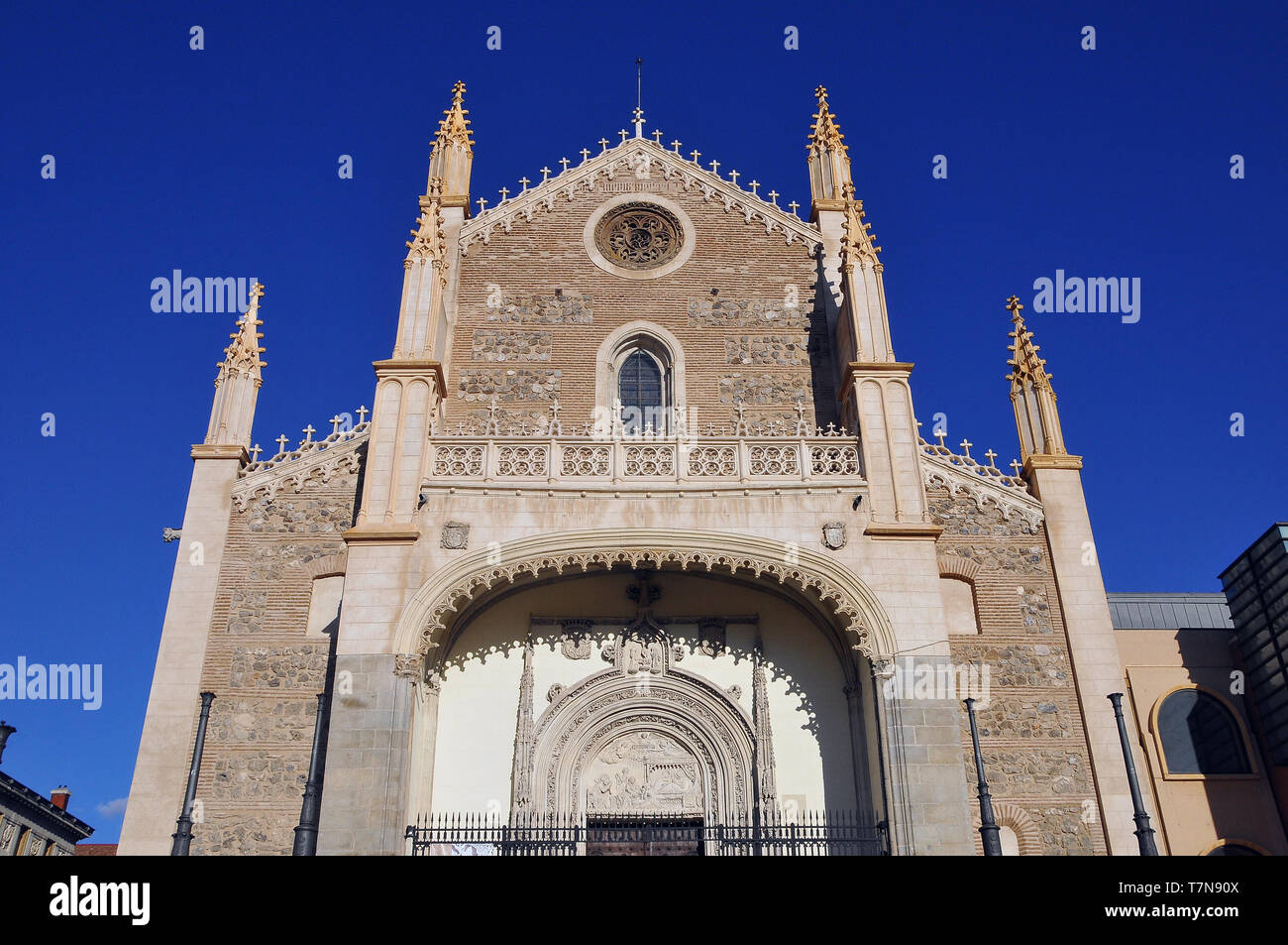 Iglesia de san Jerónimo el Real, Madrid, Spain - Stock Image
