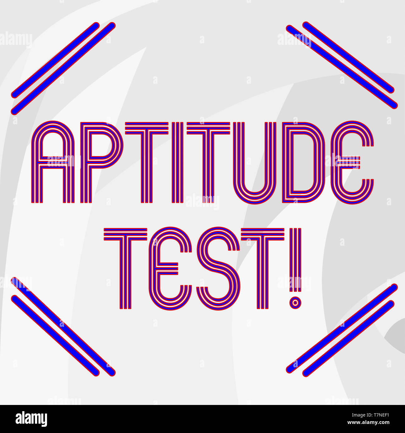 Word writing text Aptitude Test. Business photo showcasing designed to determine a demonstrating s is ability in a particular skill Abstract photo of  - Stock Image