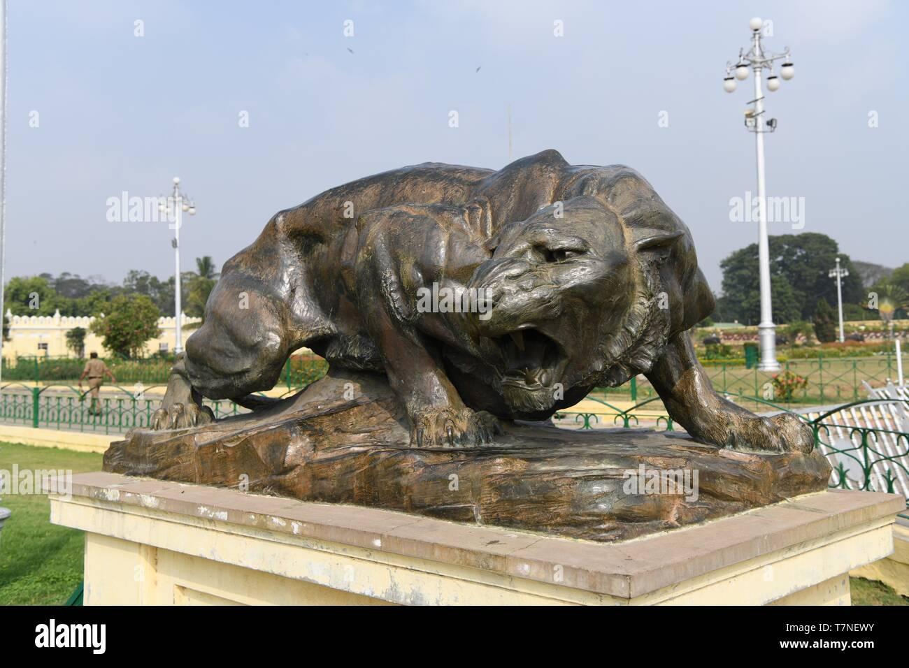 The Royal Seat of the Maharajas of Mysore, Mysore Palace, India Stock Photo