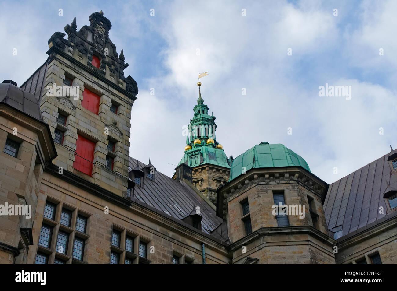 Kronborg castle, Helsingor, Europe , Denmark, Scandinavia, Europe - Stock Image