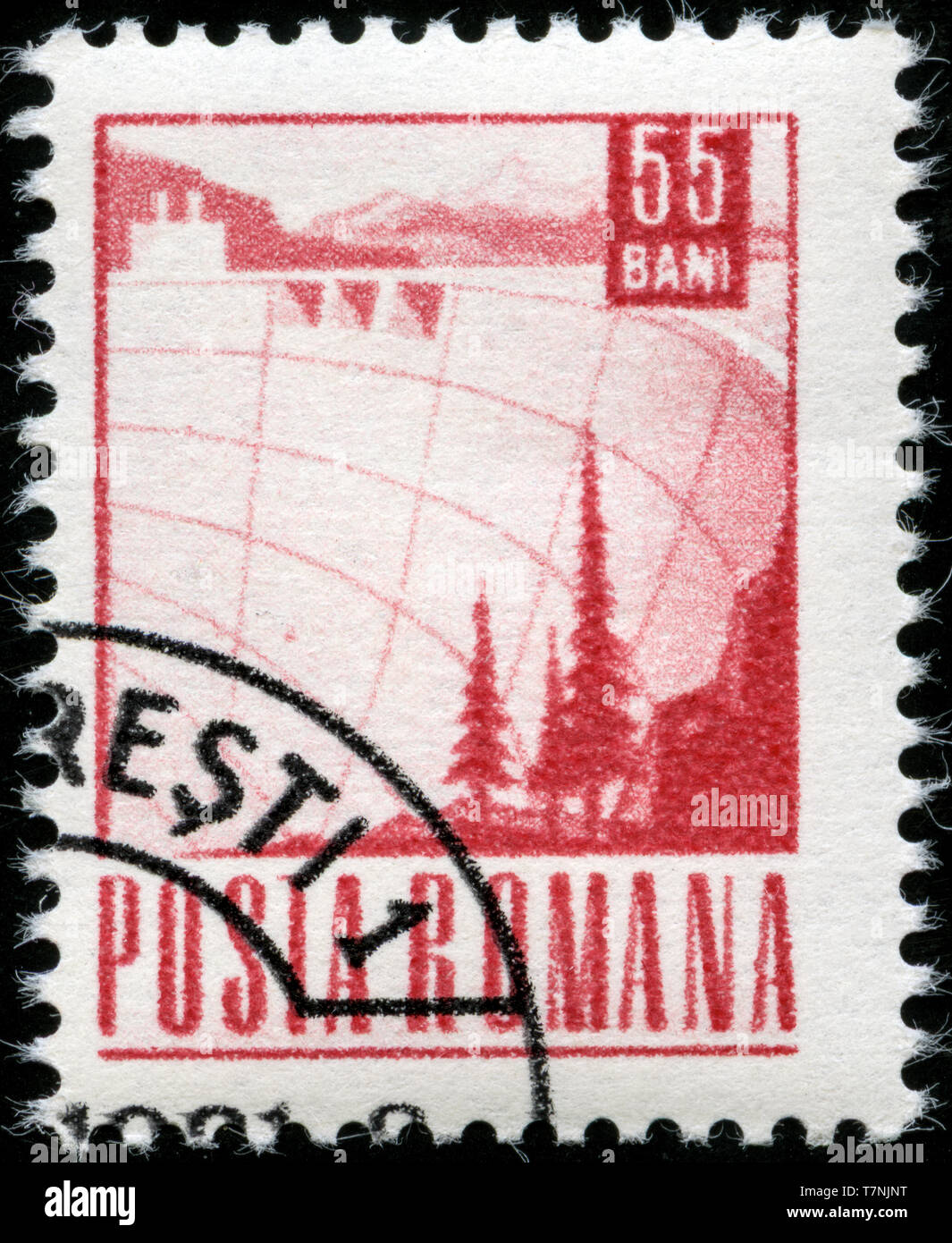 Postage stamp from Romania in the Postal and Transport series issued in 1969 - Stock Image