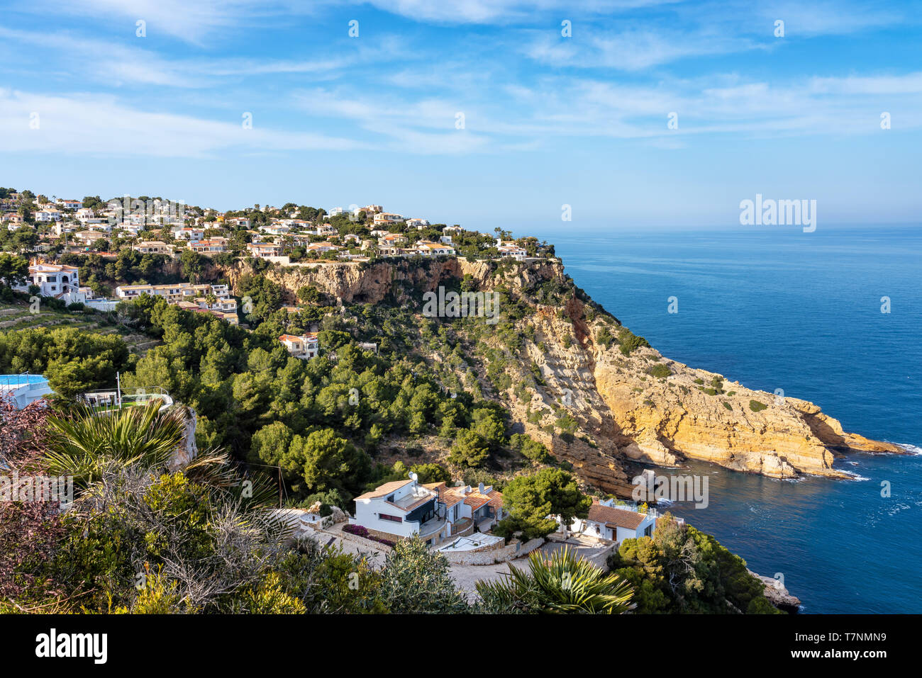 Cap de la Nau, Nao cape in Xabia Javea near Alicante Spain - Stock Image