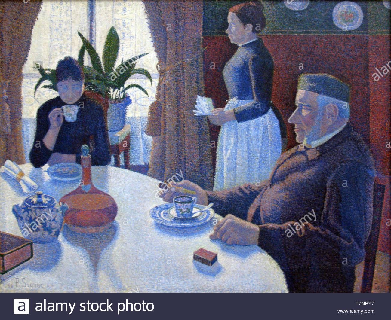 Paul-Signac-French painter, draughtsman, aquarellist and printmaker - Stock Image