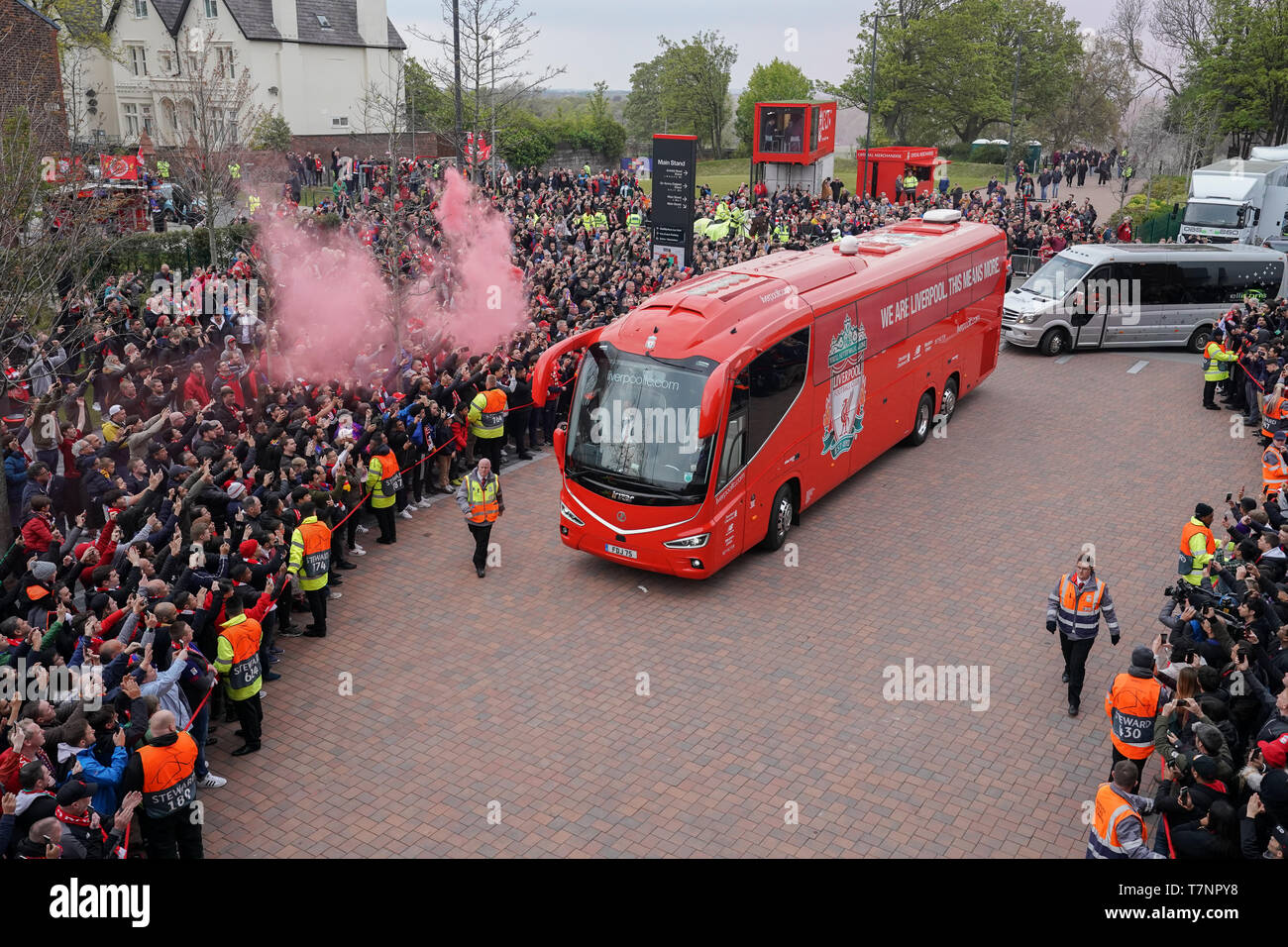 fc barcelona team 2019 high resolution stock photography and images alamy https www alamy com liverpool fc team coach arrives at anfield 7th mayl 2019 anfield stadium liverpool england uefa champions league semi final second leg liverpool fc vs fc barcelona credit terry donnellynews images image245726748 html