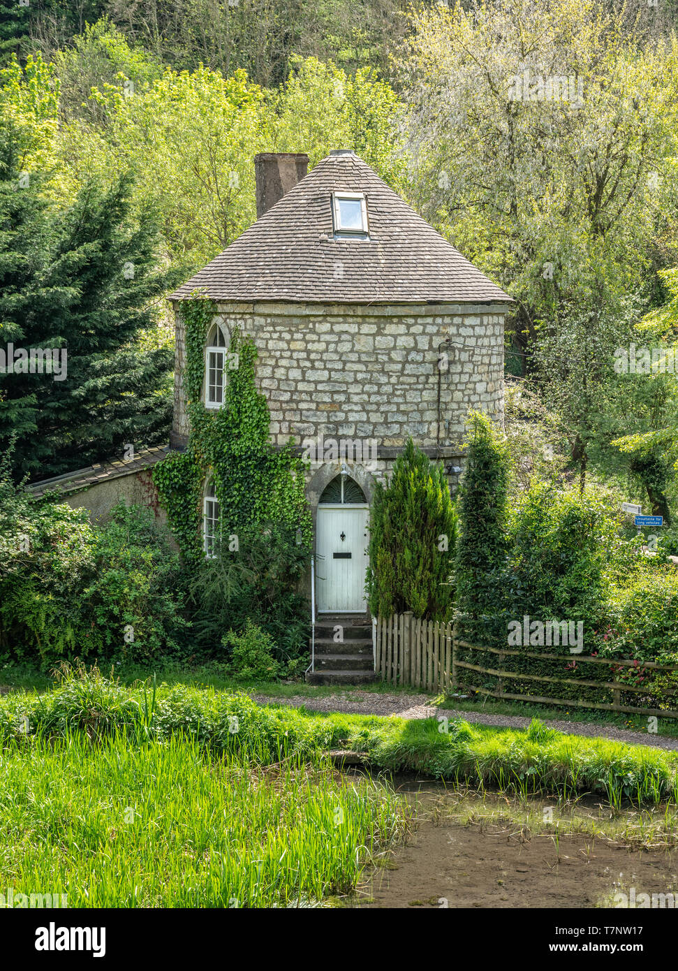 Chalford Roundhouse a listed building on the Severn Thames Canal, Stroud, The Cotswolds, United Kingdom - Stock Image