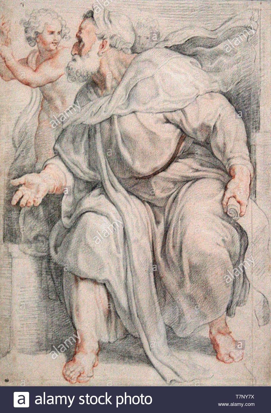 Peter-Paul-Rubens-The Prophet Ezekiel - Stock Image