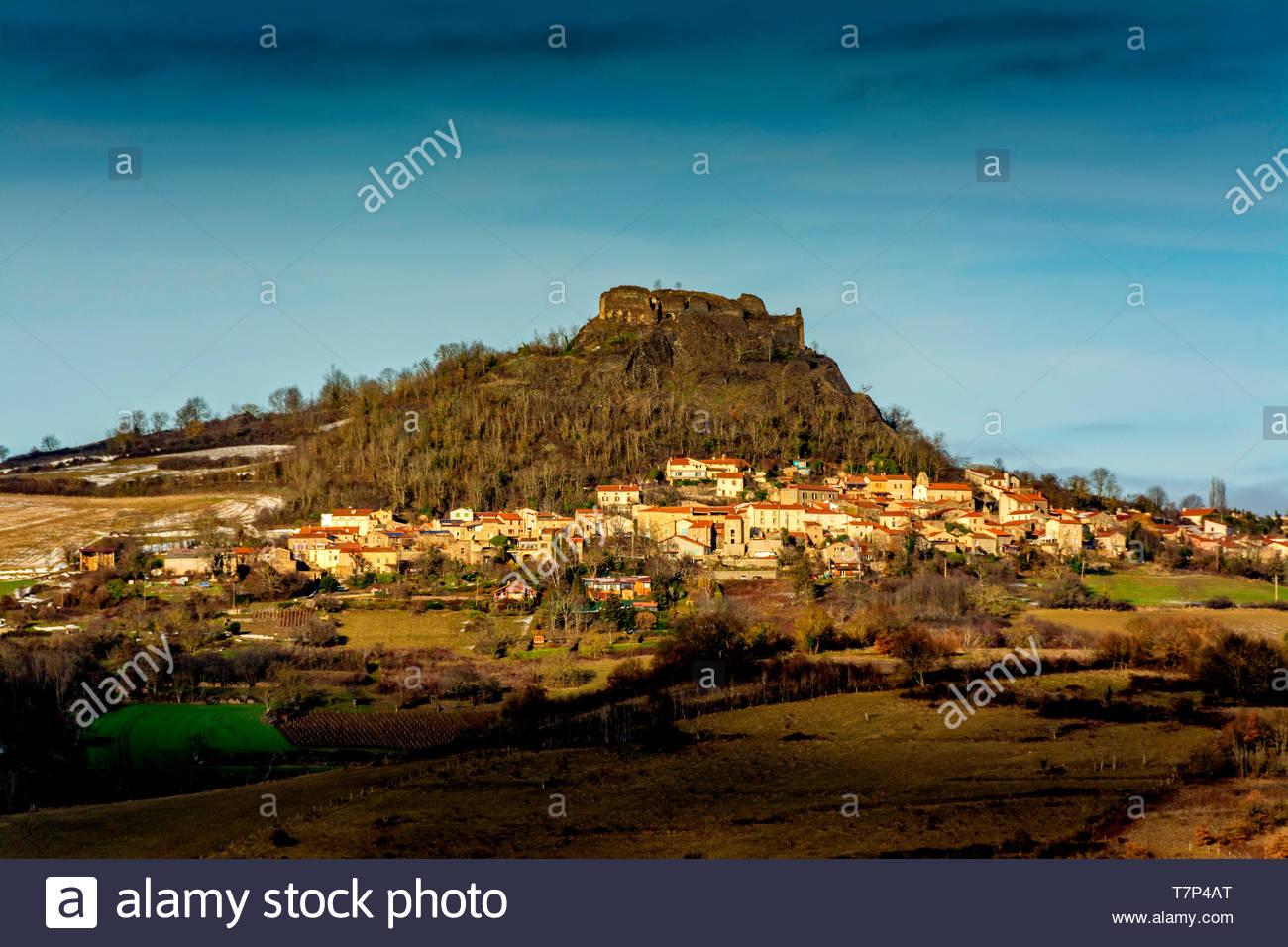 Village of Buron, Puy de Dome, Auvergne, France - Stock Image