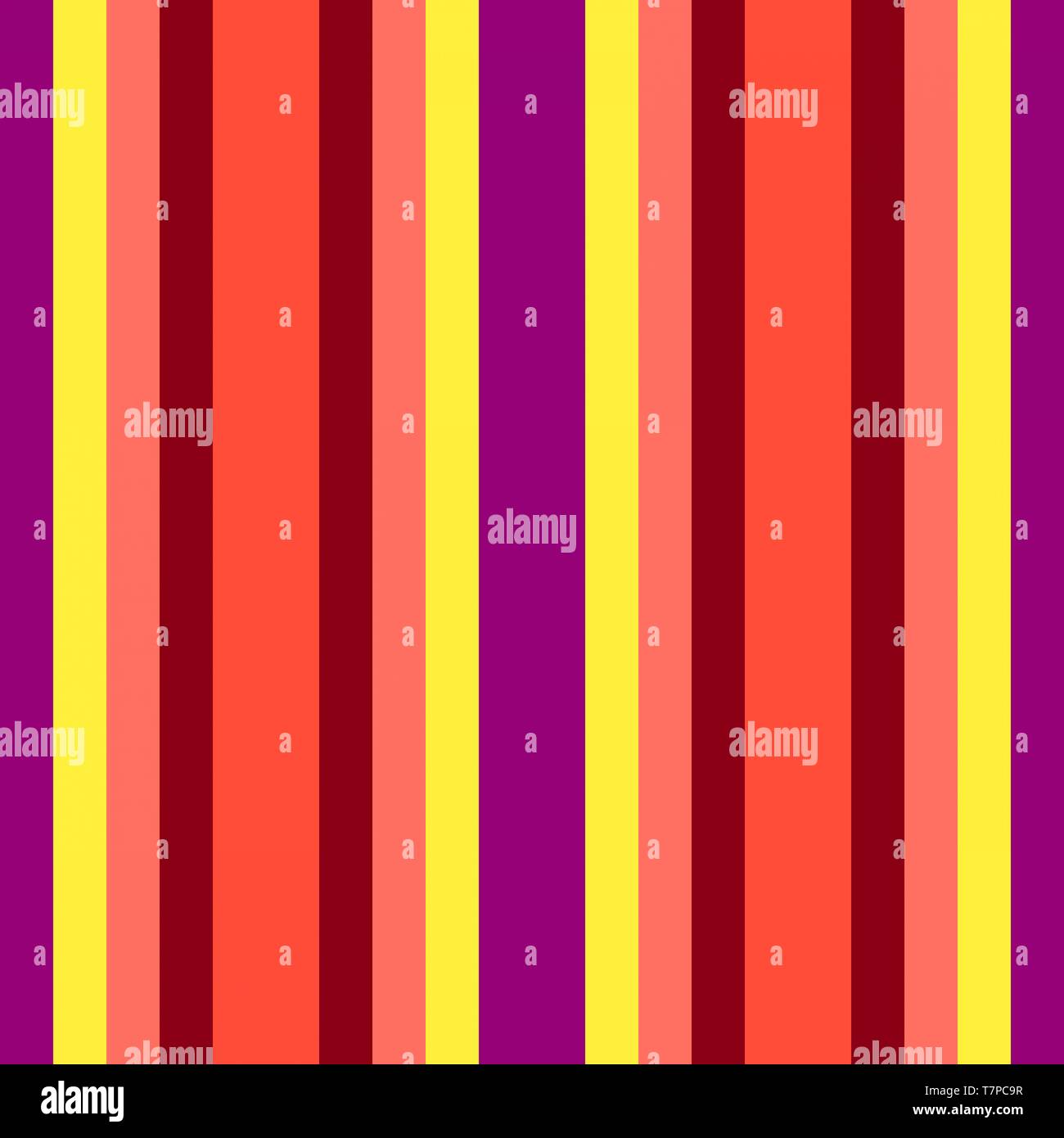 Yellow Maroon And Tomato Colored Vertical Lines Abstract