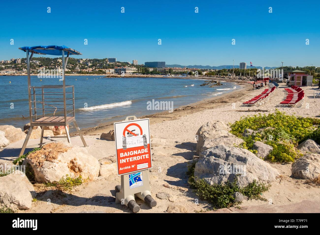 France Bouches Du Rhone Marseille The Prado Beaches The Beach