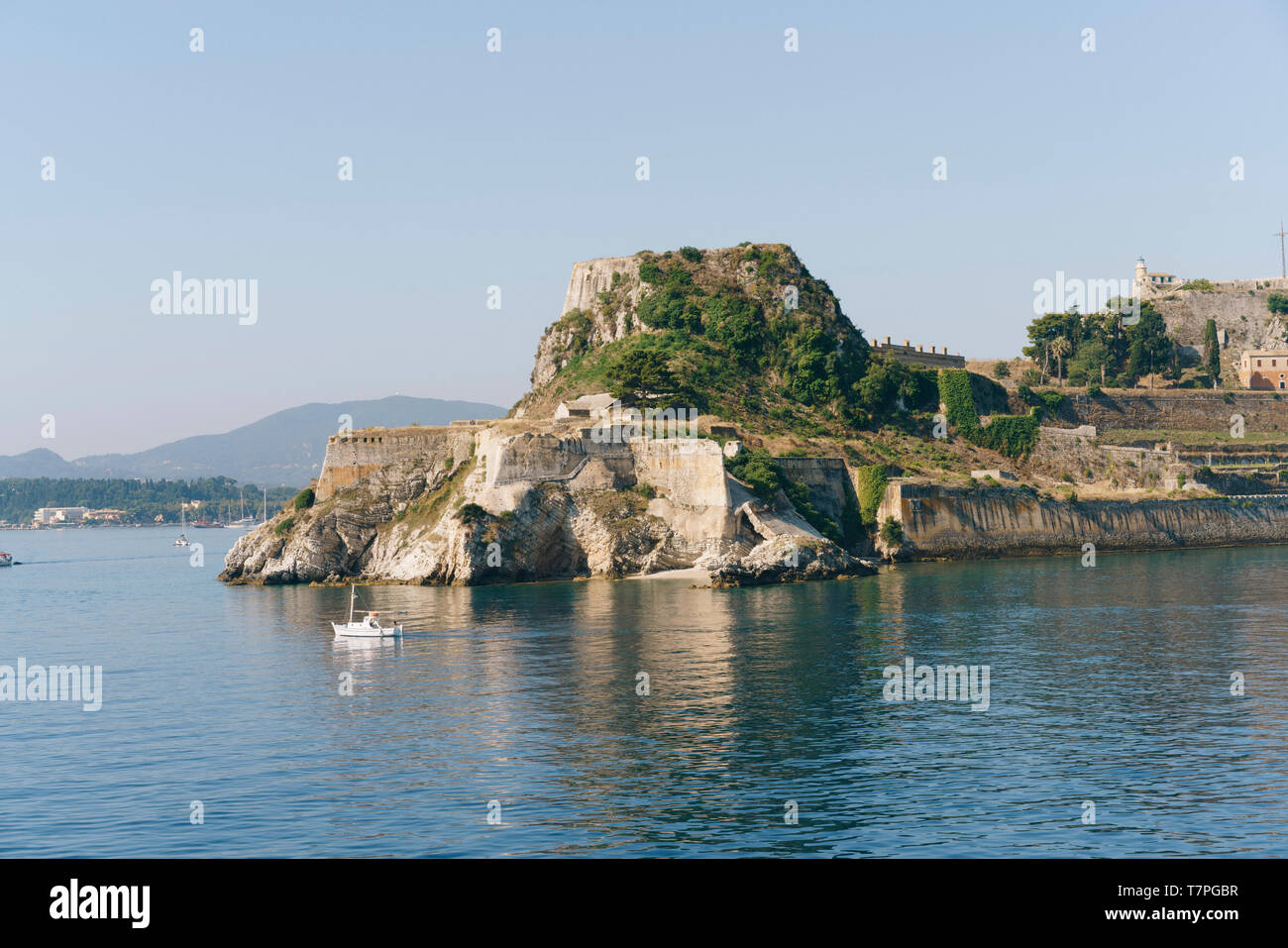 The old fortress of Corfu, built by the Venetians in the early 15th century. Stock Photo
