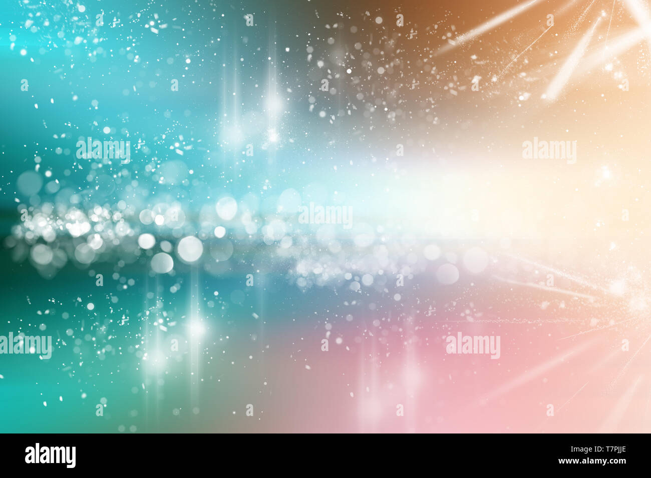 Blue Bokeh Abstract Light Backgrounds Stock Photo Alamy