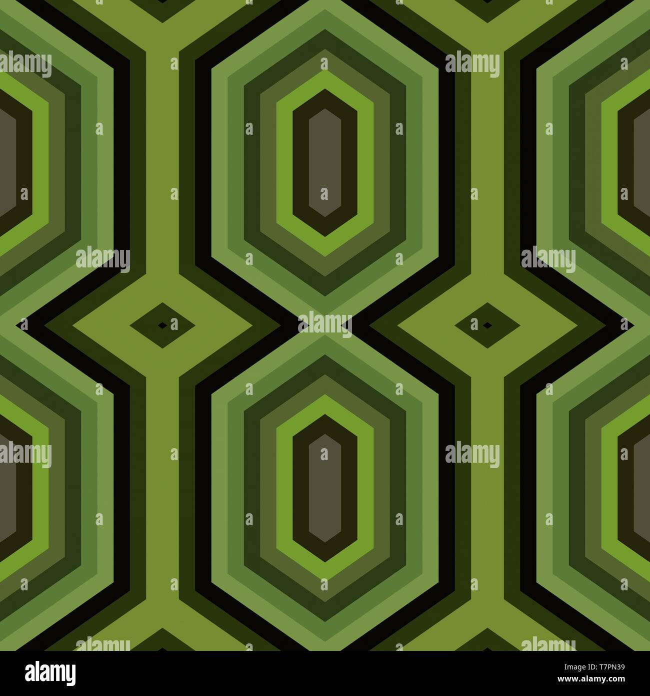 Abstract Hexagon Backdrop Style Olive Drab Black And Very