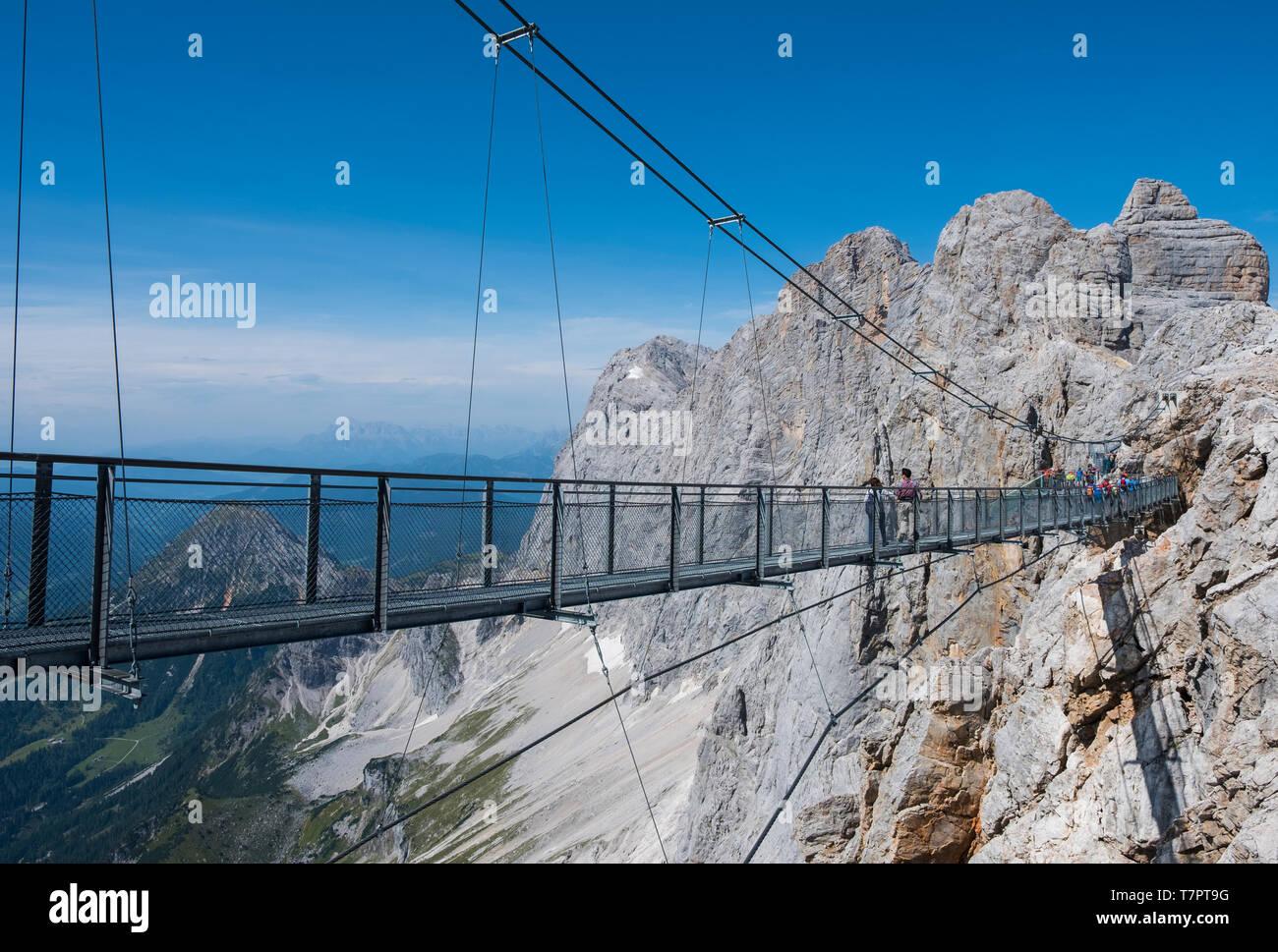 The Dachstein Suspension Bridge Stock Photo   Alamy