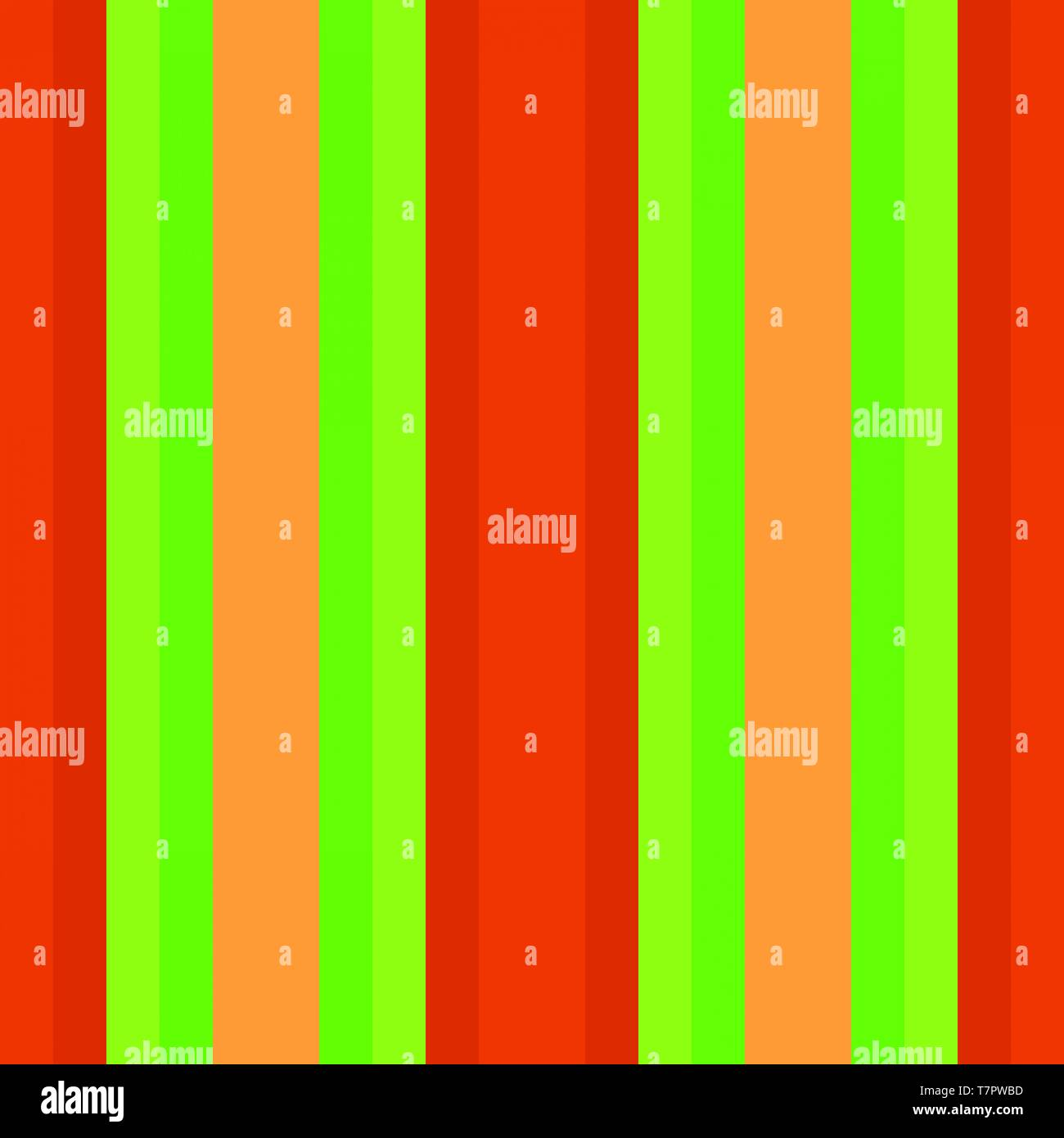 Vivid Color Vertical Lines With Lawn Green Orange Red And