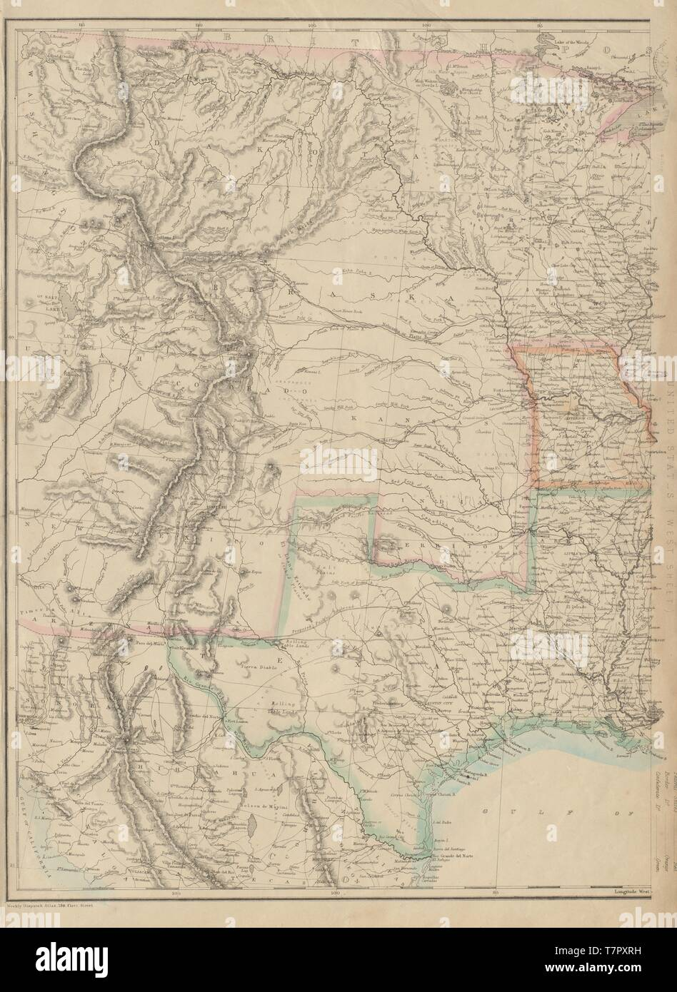 CENTRAL CIVIL WAR USA. Union & Confederate states Texas ...