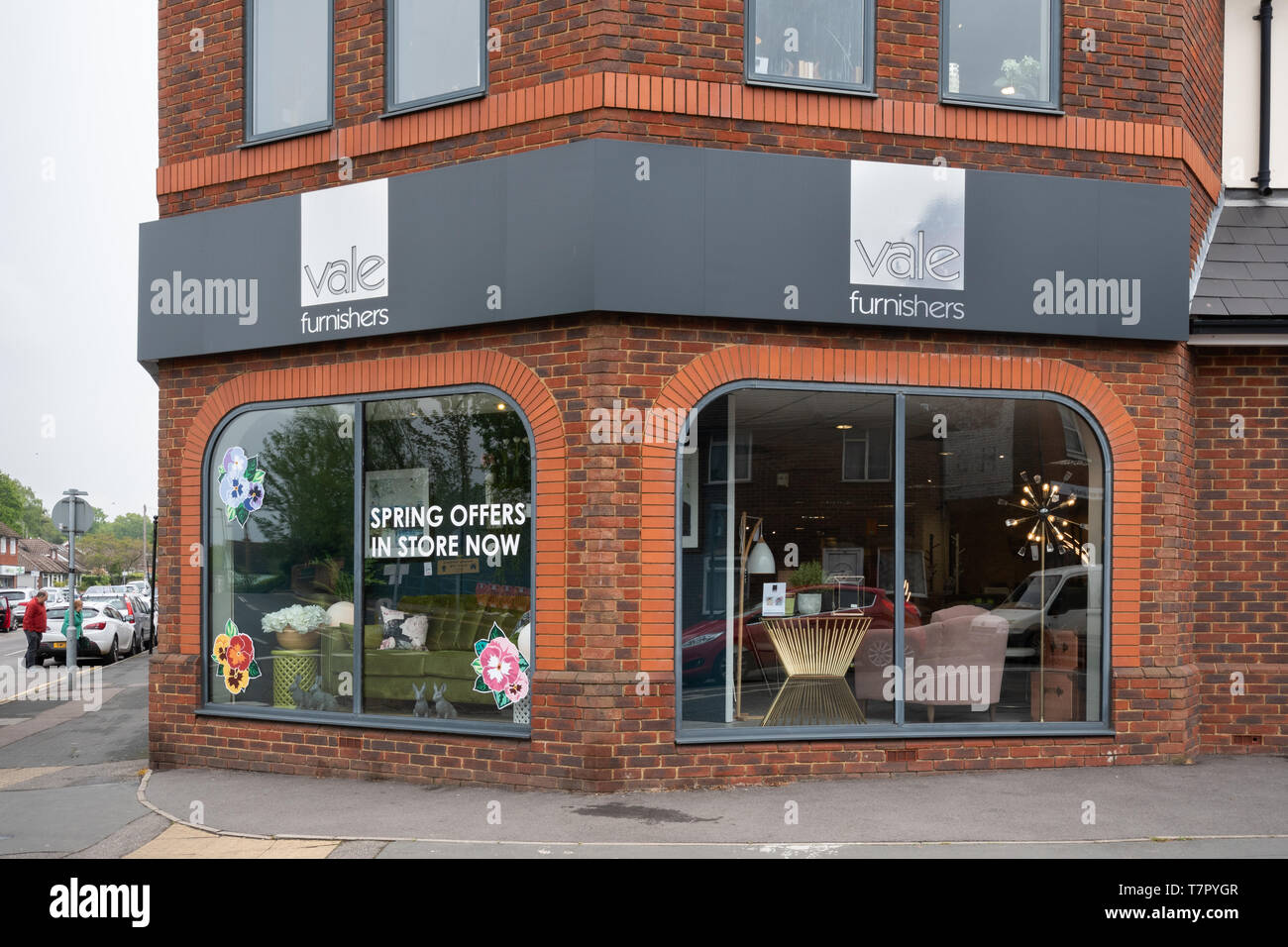 Vale Furnishers shop, one of the largest furniture showrooms in the area, in Ash Vale in Surrey, UK - Stock Image