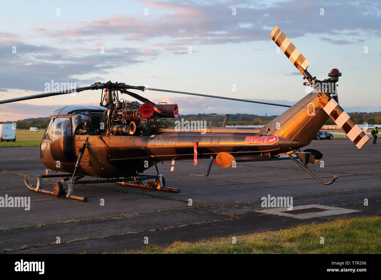 Westland Scout XT626 helicopter at Abingdon Air & Country Show night shoot, Abingdon, UK - Stock Image