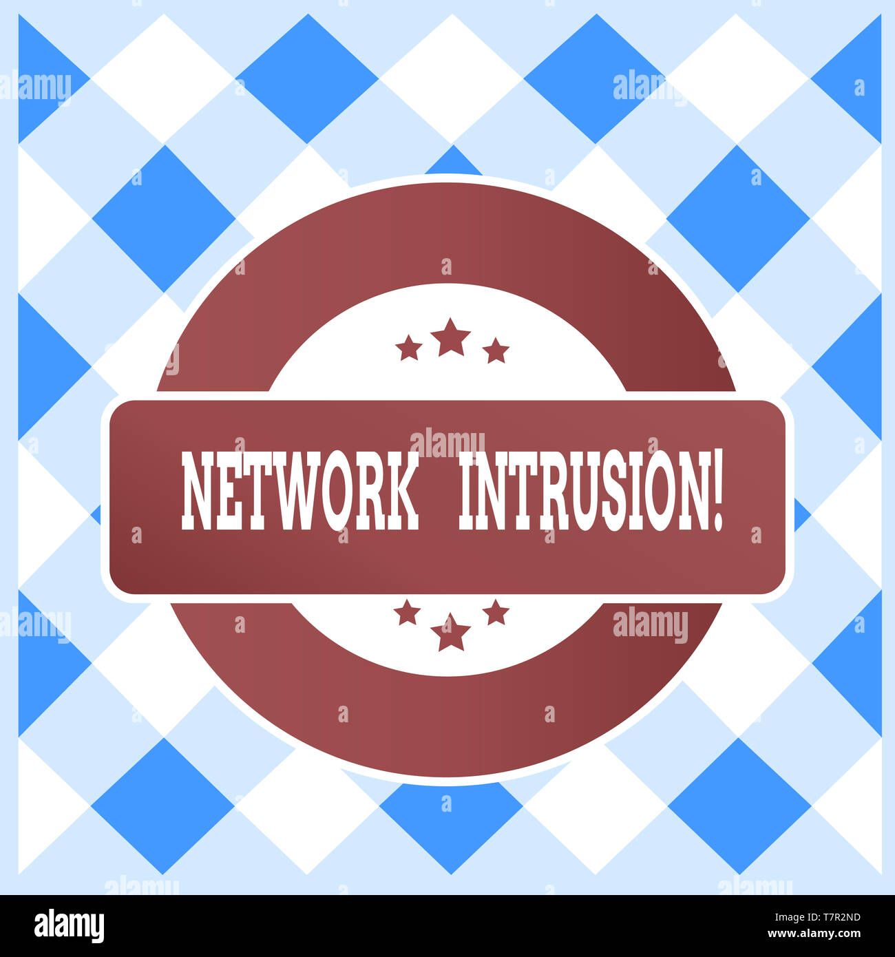 Text sign showing Network Intrusion. Business photo text device or software application that monitors a network - Stock Image