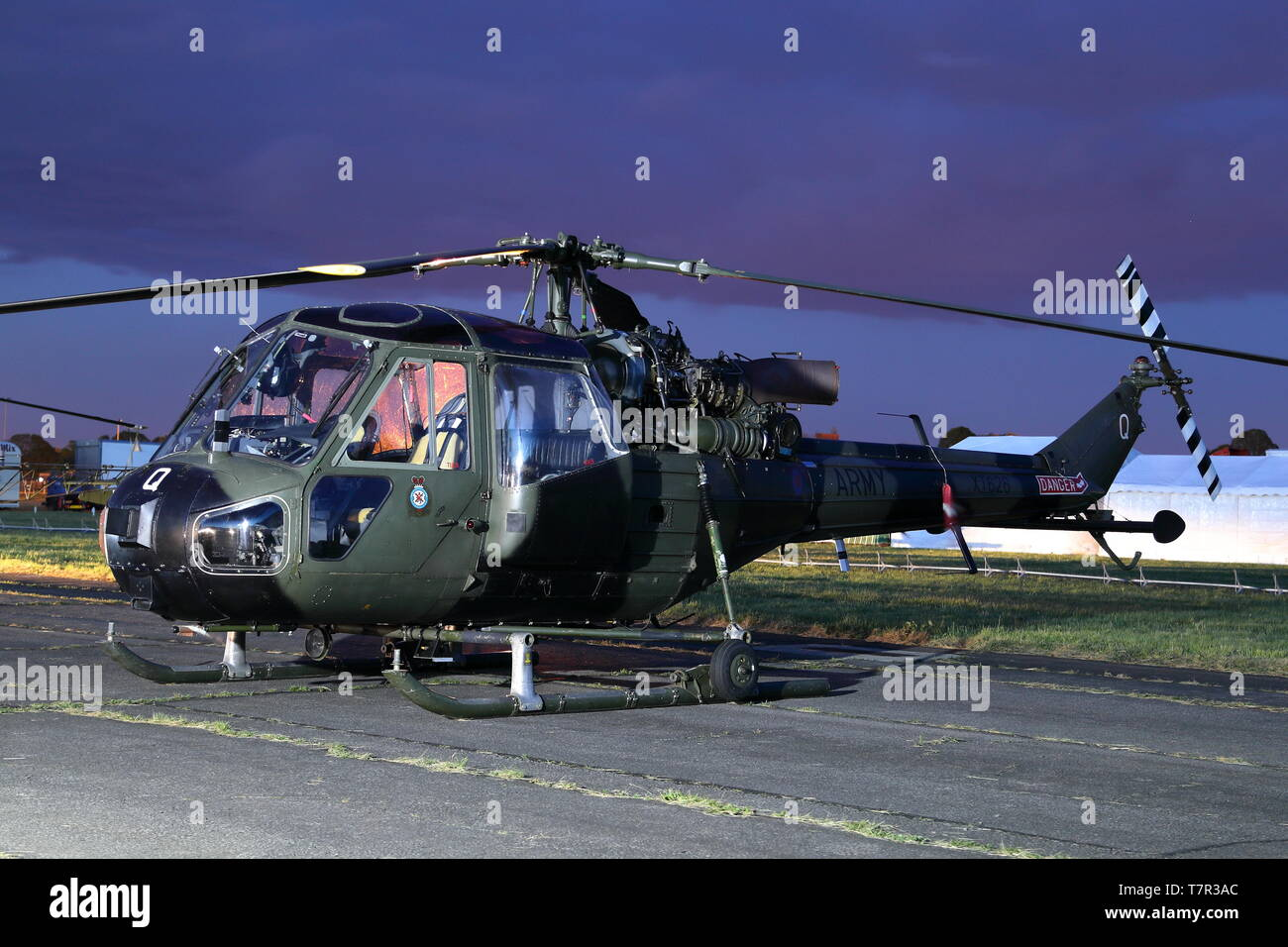 Westland Scout XT626 at the Abingdon Air & Country Show night shoot, Abingdon, UK - Stock Image