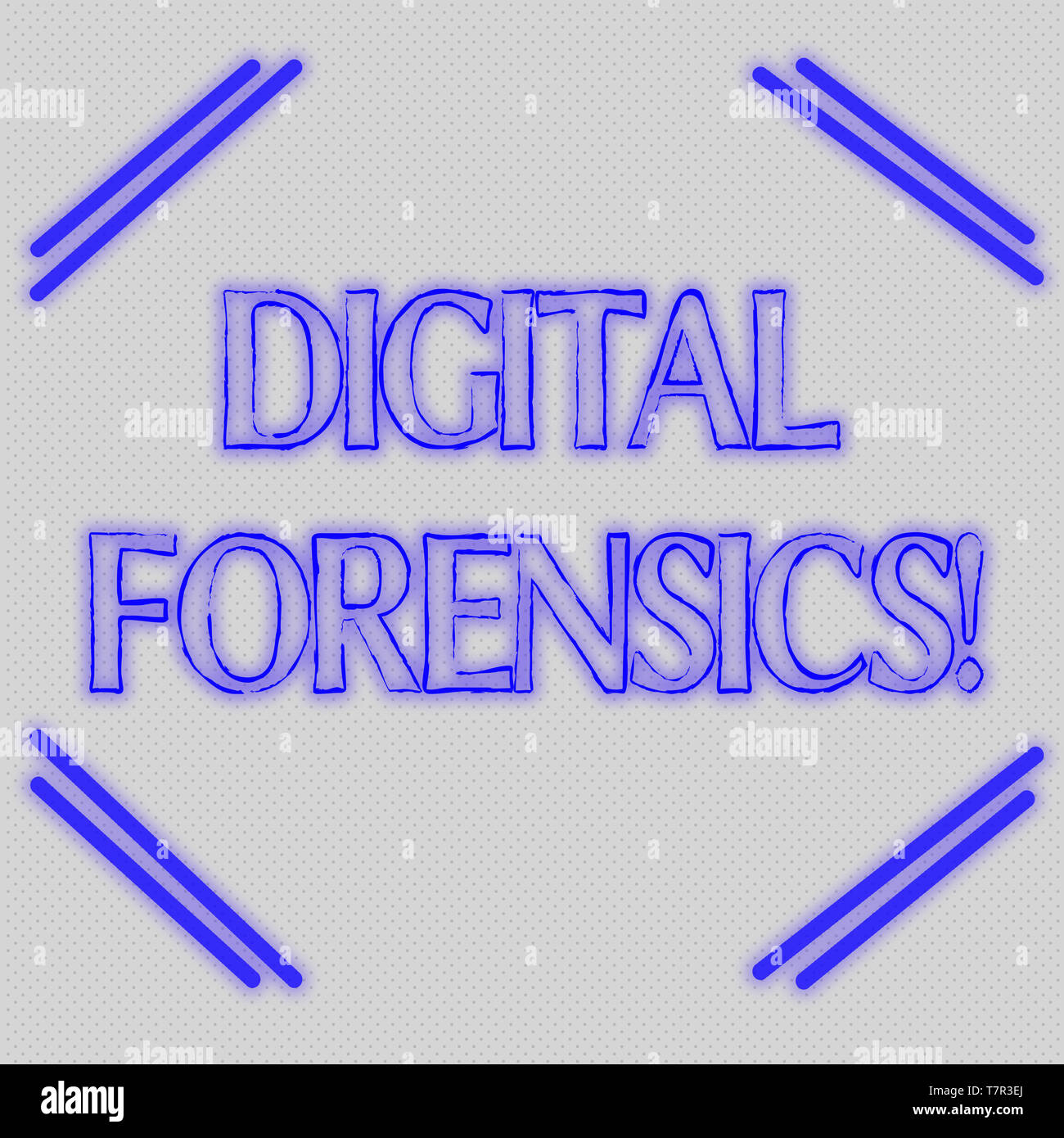 Word writing text Digital Forensics. Business photo showcasing investigation of material found in digital devices Seamless Endless Infinite Tiny Gray  - Stock Image