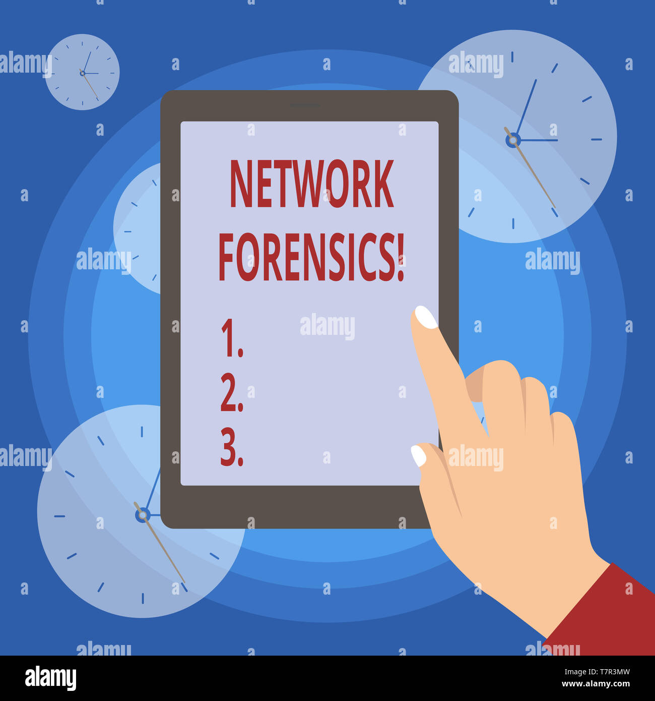 Handwriting text writing Network Forensics. Conceptual photo monitoring and analysis of computer network traffic - Stock Image