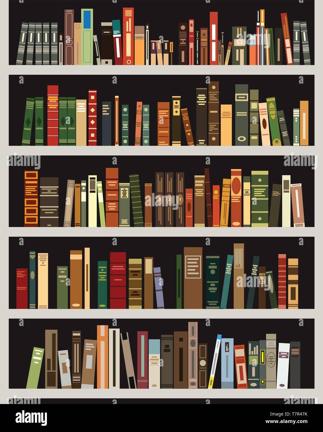 bookshelf vector illustration alamy