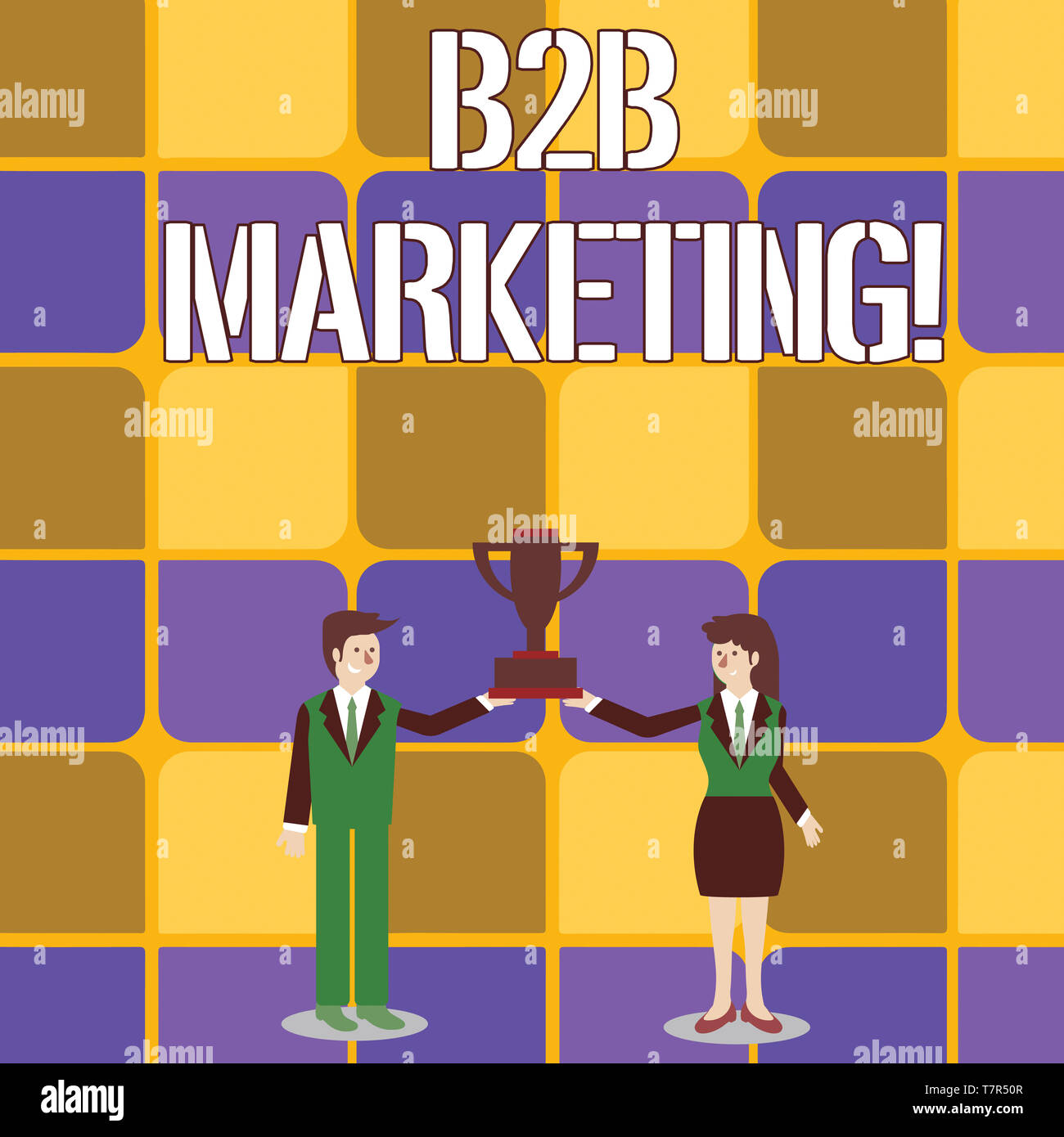 Conceptual hand writing showing B2B Marketing  Concept