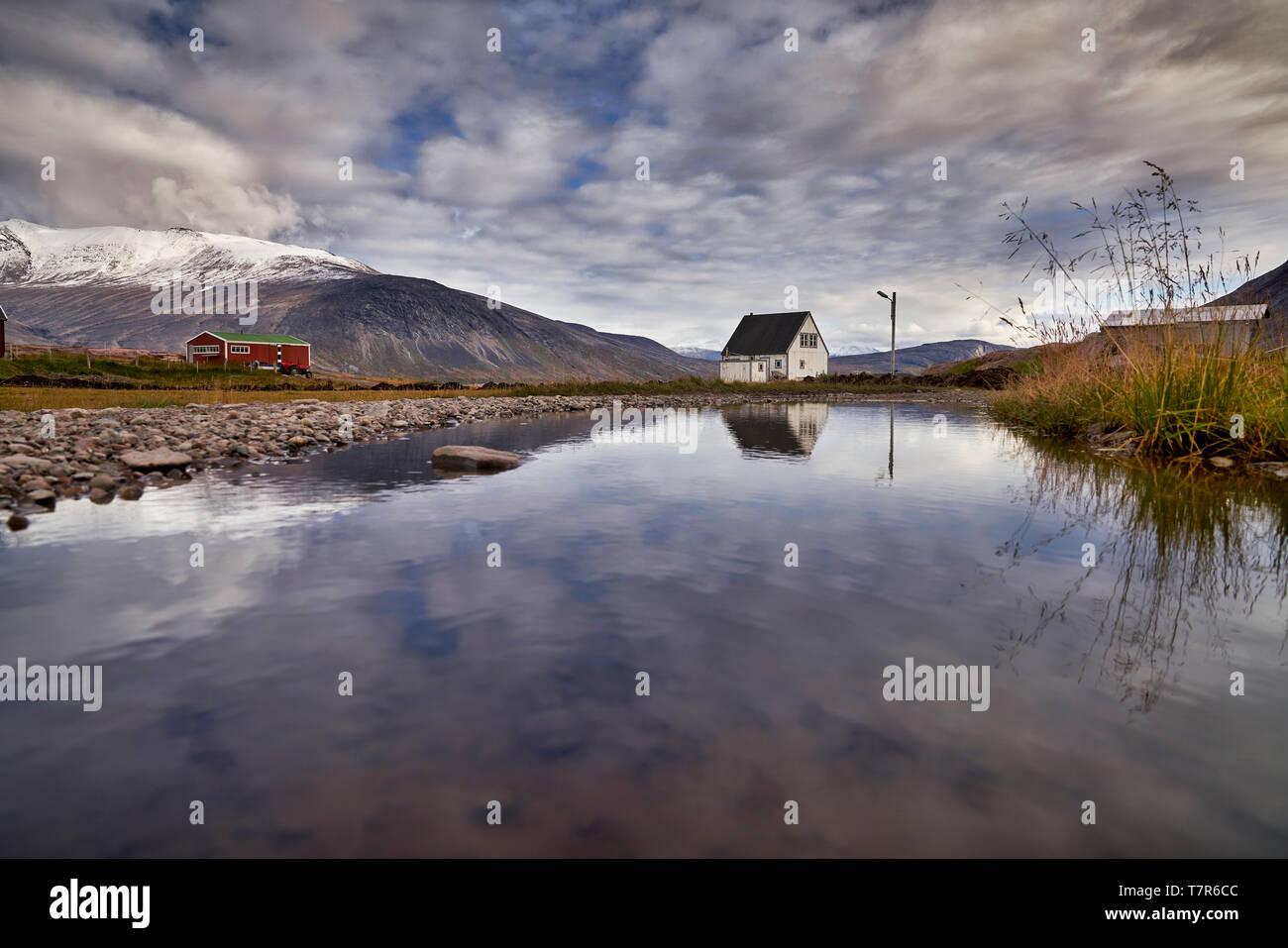 Scenic, Igaliku, Greenland Stock Photo