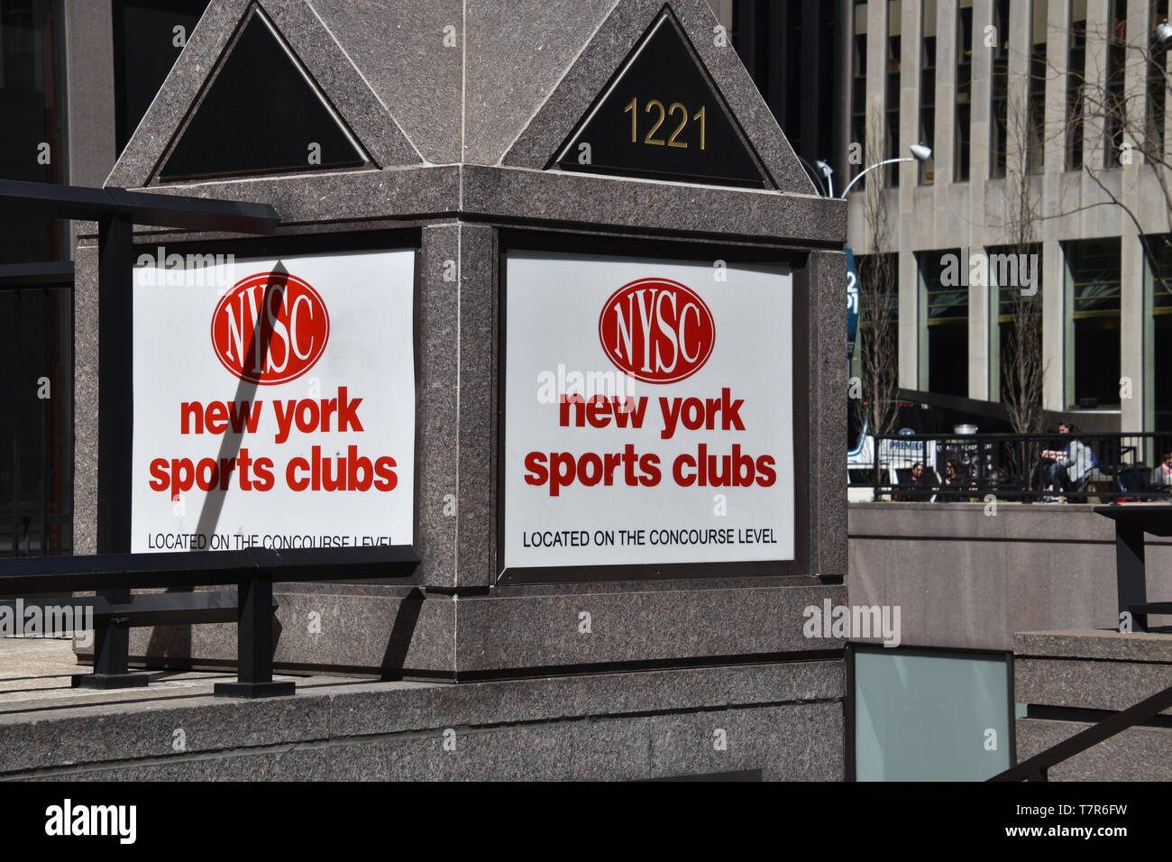 Y - April 3, 2019: New York Sports Club Sign as seen in midtown Manhattan, New York City on this date - Stock Image