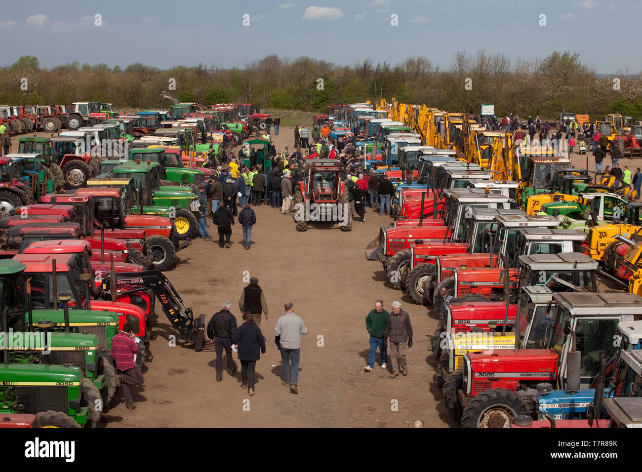Cheffins of Cambrige, the largest agricultural machinery sales auction in Europe. - Stock Image
