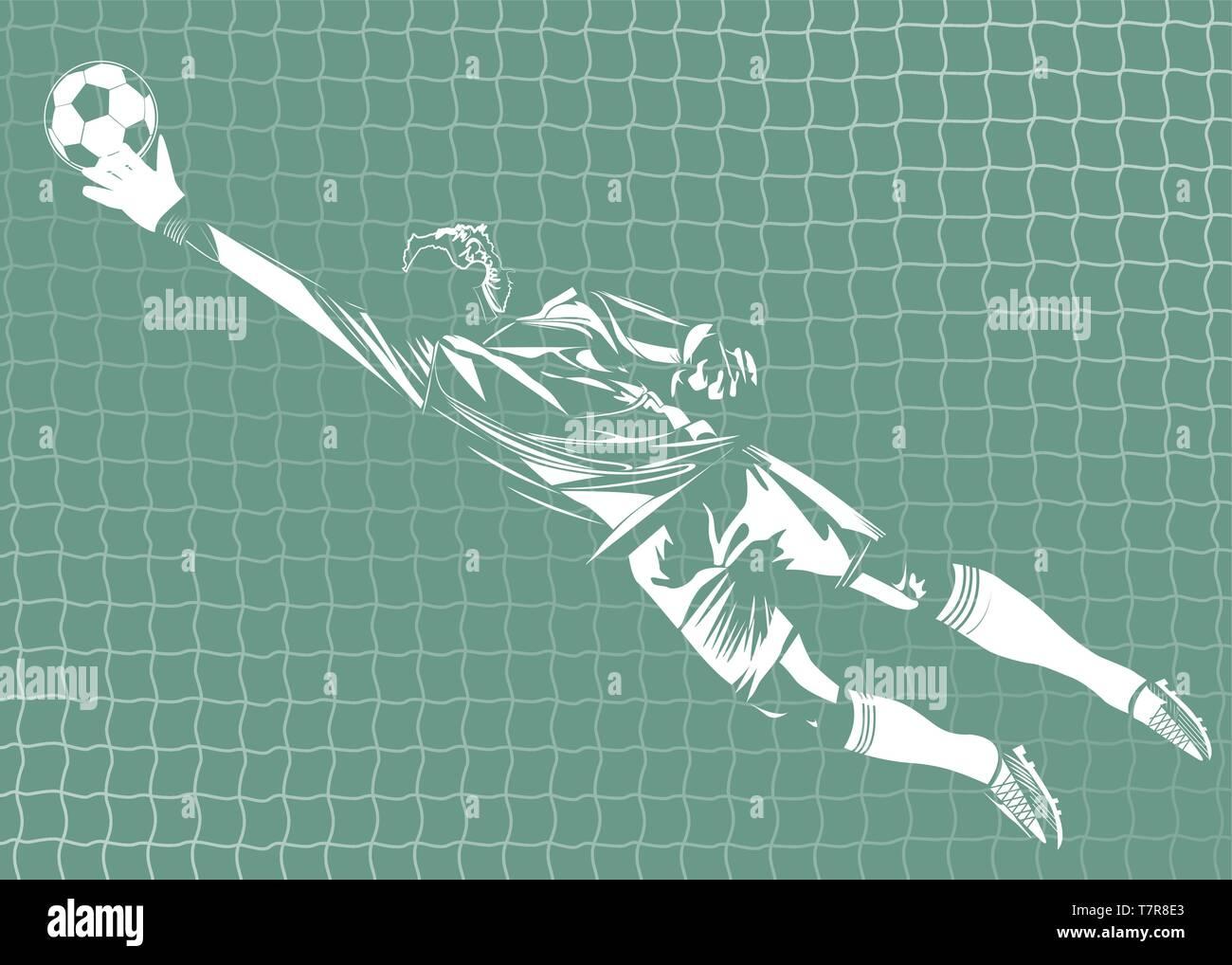vector illustration of goalkeeper - Stock Vector