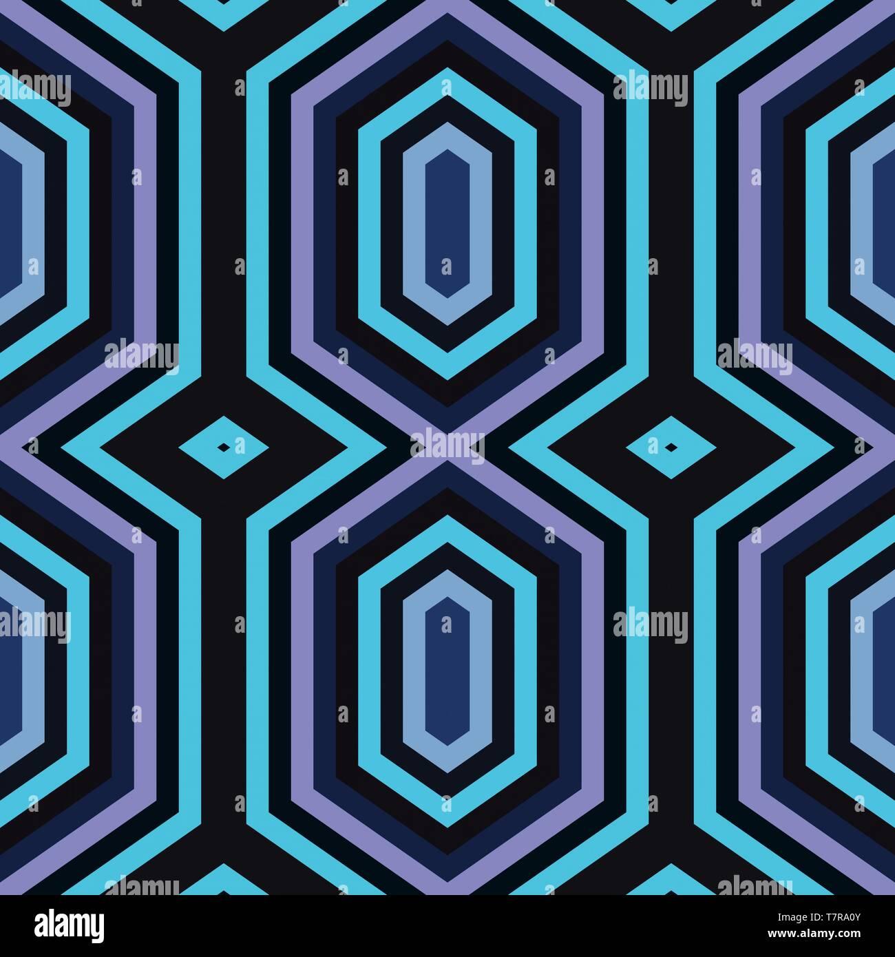 simple seamless geometric background with very dark blue